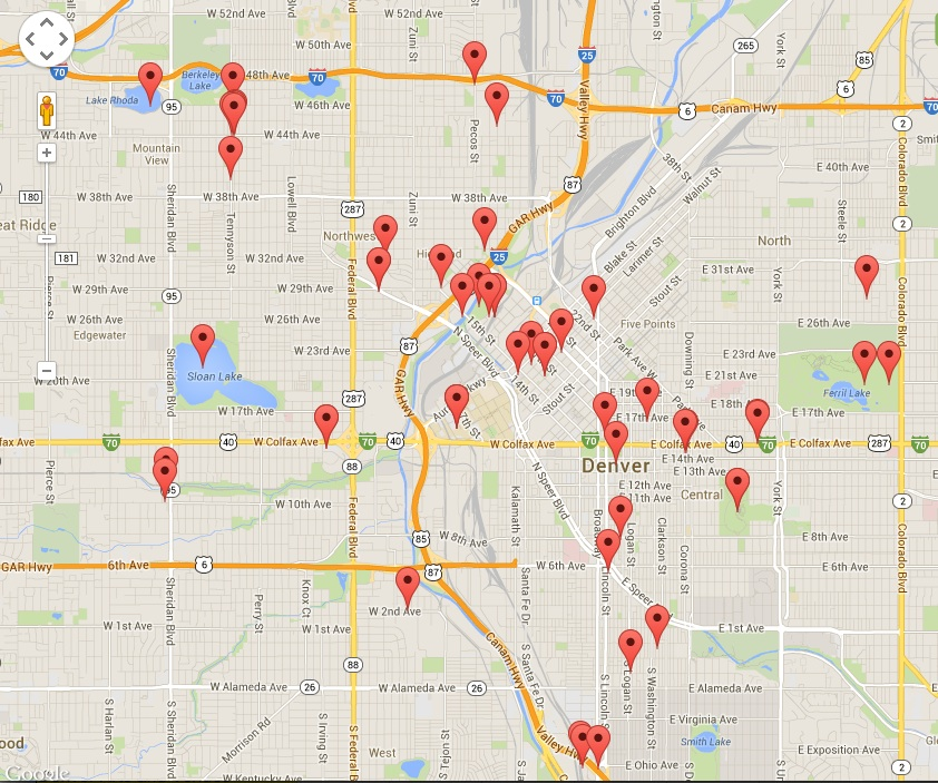 Photo: 'One Day in Denver' video map