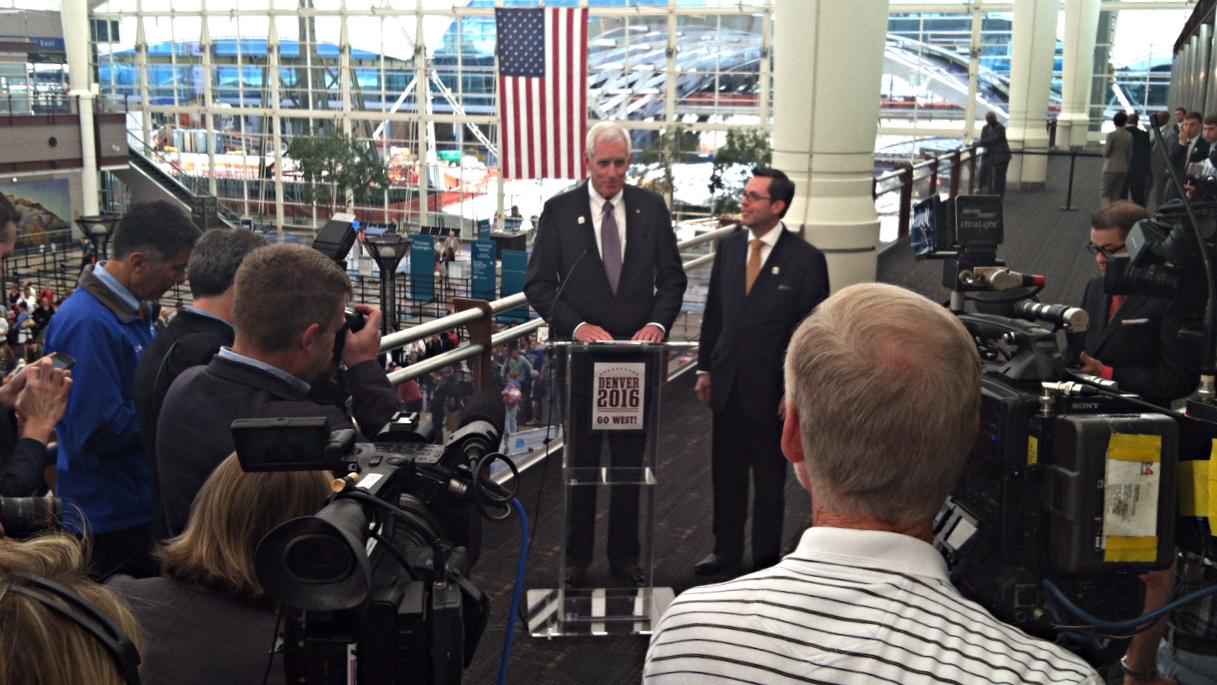 Photo: Denver Republican convention bid news conference