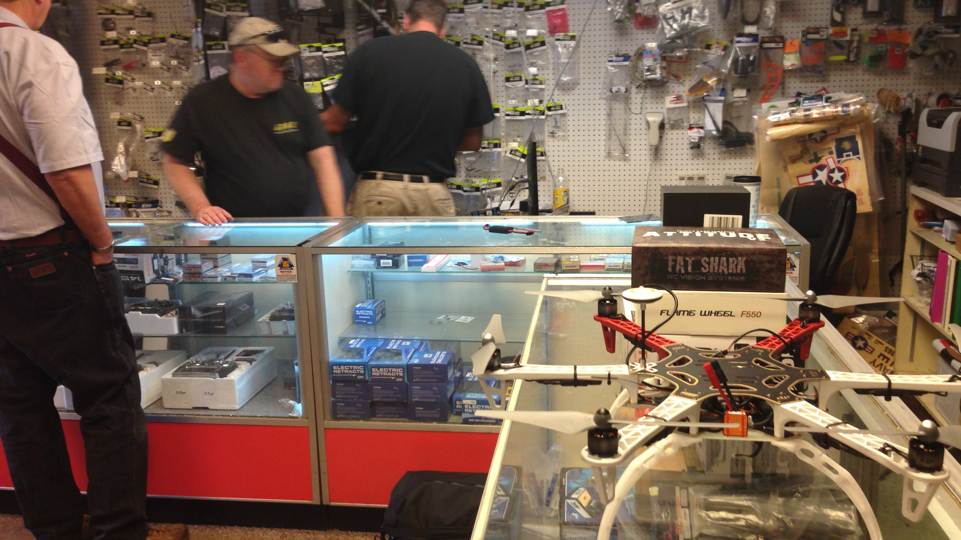 Photo: Action Hobbies RC Aircraft Center sells drones