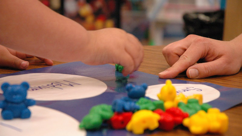Photo: Pre-K (hands playing on board)