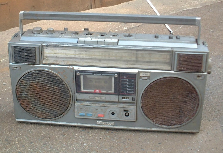 Photo: Radio cassette player