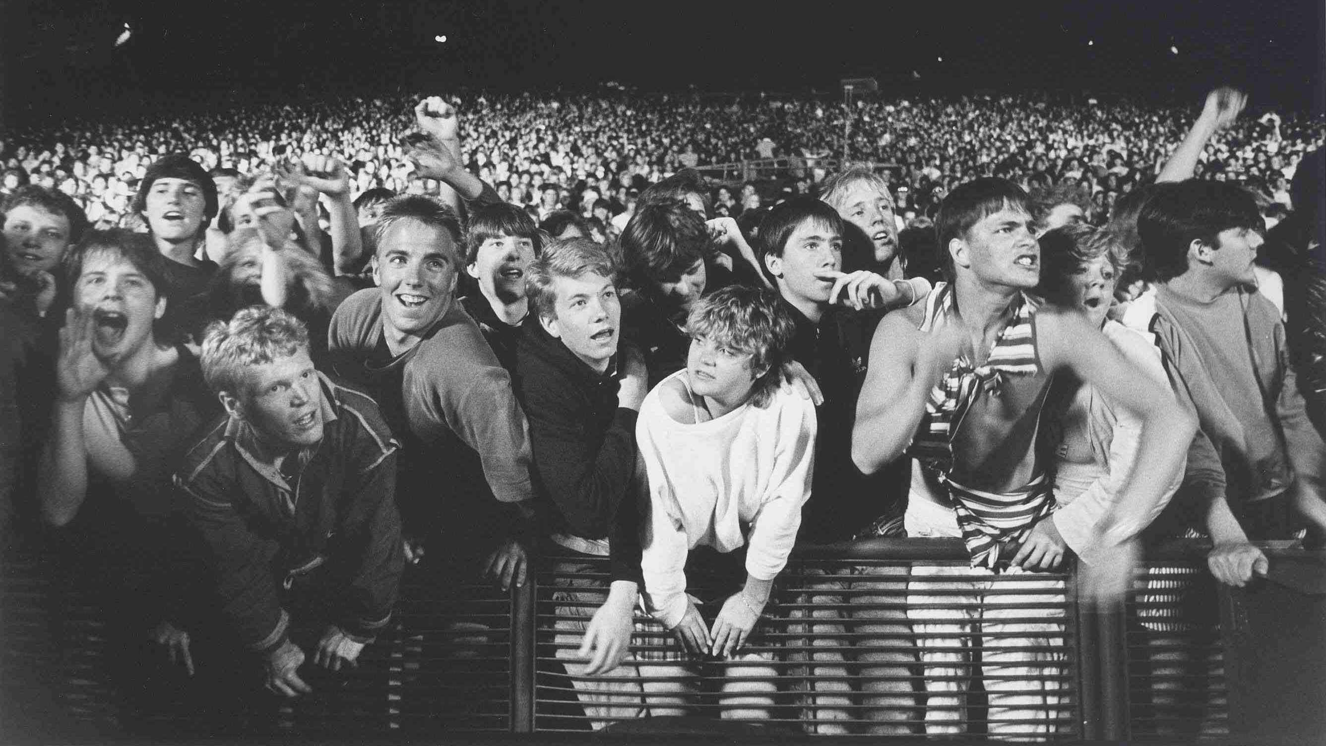 Red Rocks concertgoers, 1987