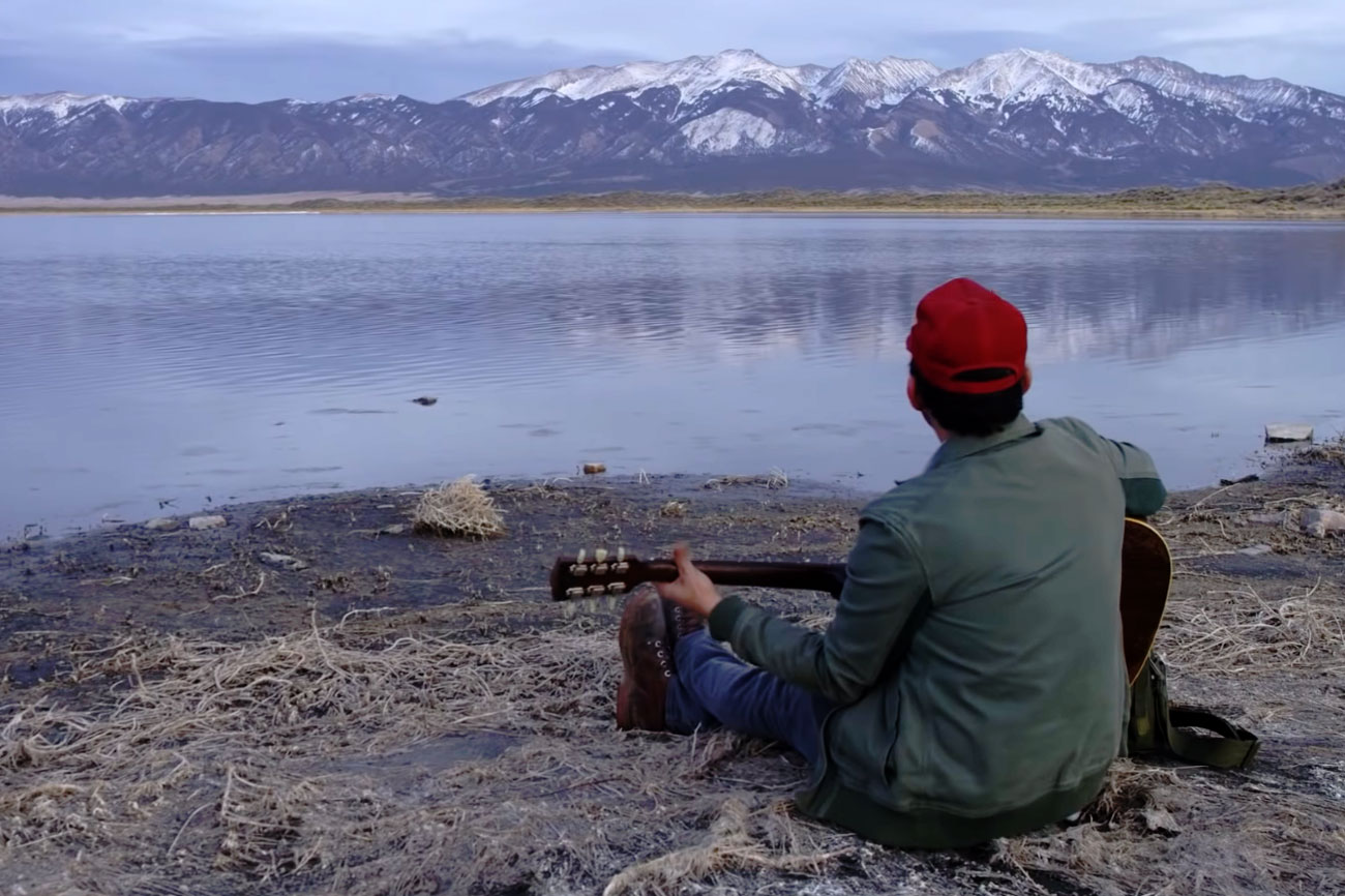 "A screengrab from Gregory Alan Isakov's latest video, ""San Luis."""
