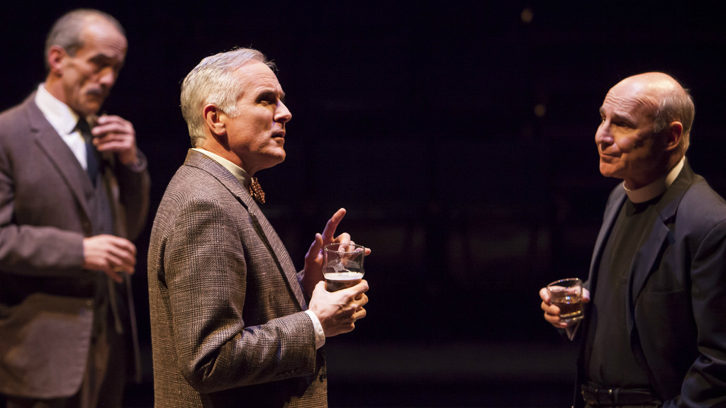 "<p>John Hutton (left), Sam Gregory and Michael Santo in the Denver Center Theatre Company's mainstage production of ""Shadowlands.""</p>"
