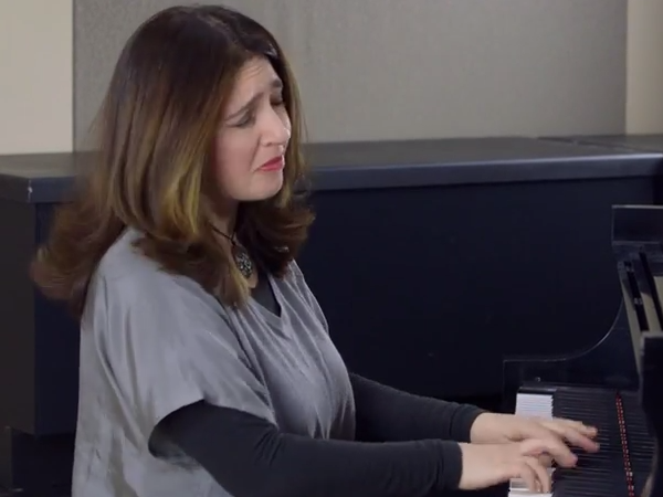 Photo: Simone Dinnerstein in the CPR Performance Studio thumbnail