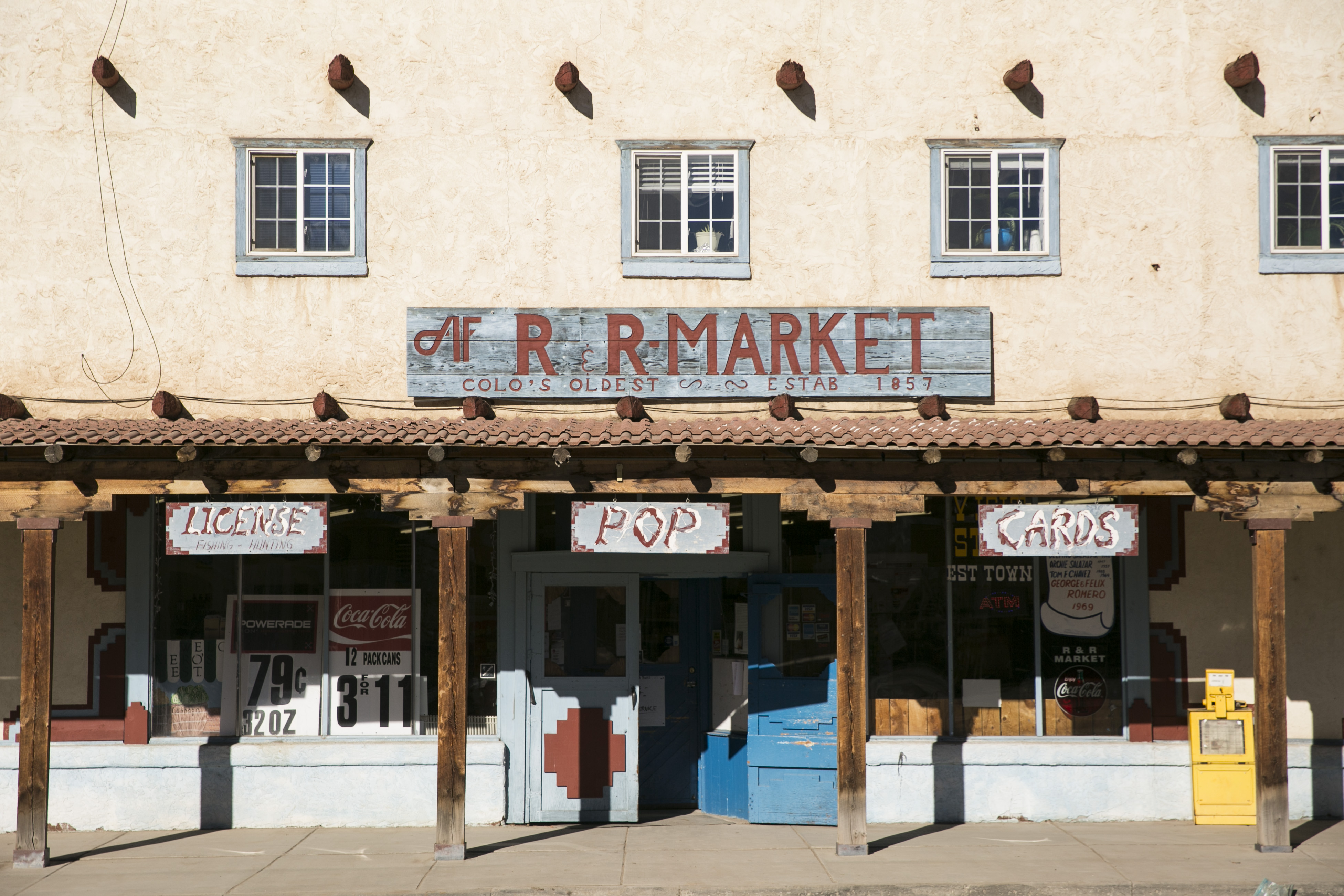 <p>The R&R Market on Main Street in San Luis, Colorado, has been open since 1857. The current building, seen here, has stood since the late 1940s.</p>