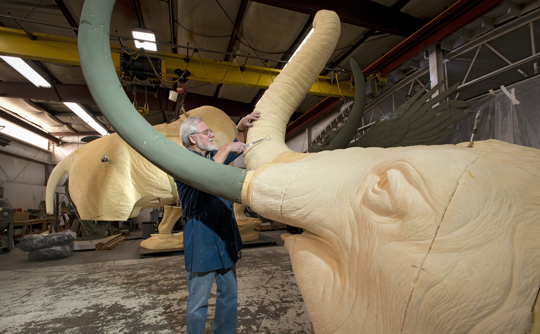 Photo: 'Snowmastodon' sculpture by Kent Ullberg at DMNS
