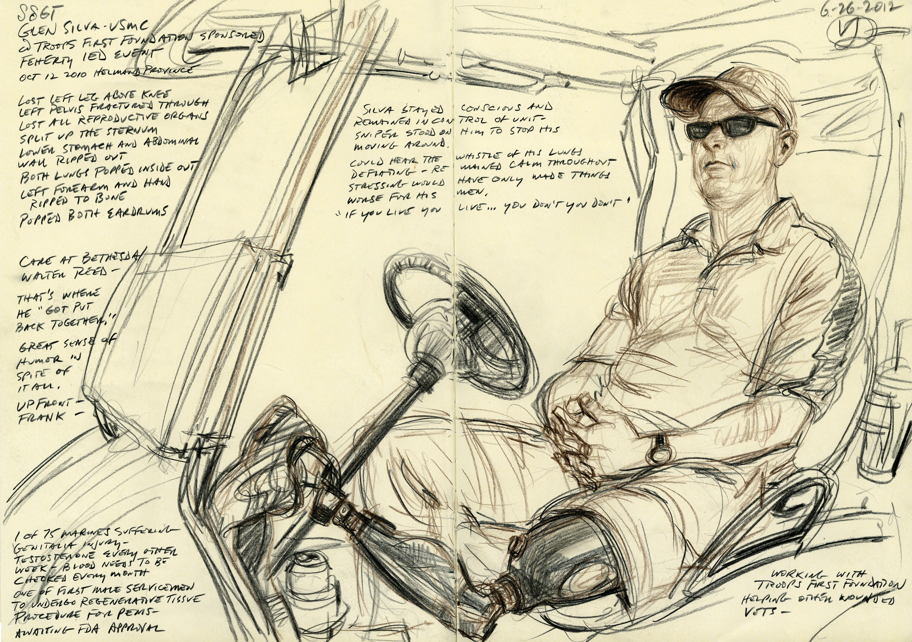 "<div>""Staff Sergeant Glen Silva USMC"" by Victor Juhasz, 2012</div>"