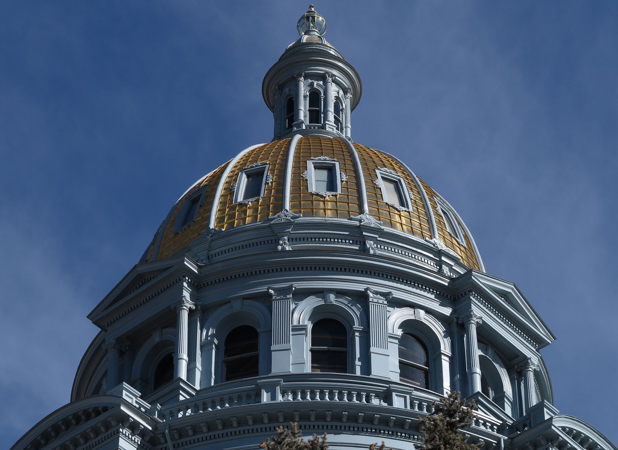 Photo: The Colorado Capitol's gold dome, viewed from the west