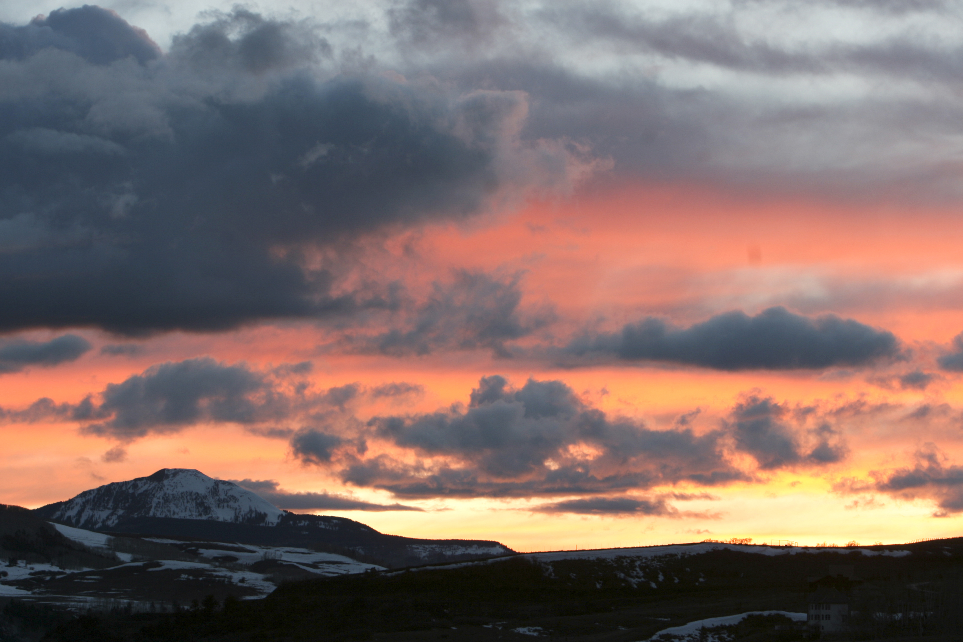 <p>A winter sunset near Telluride</p>