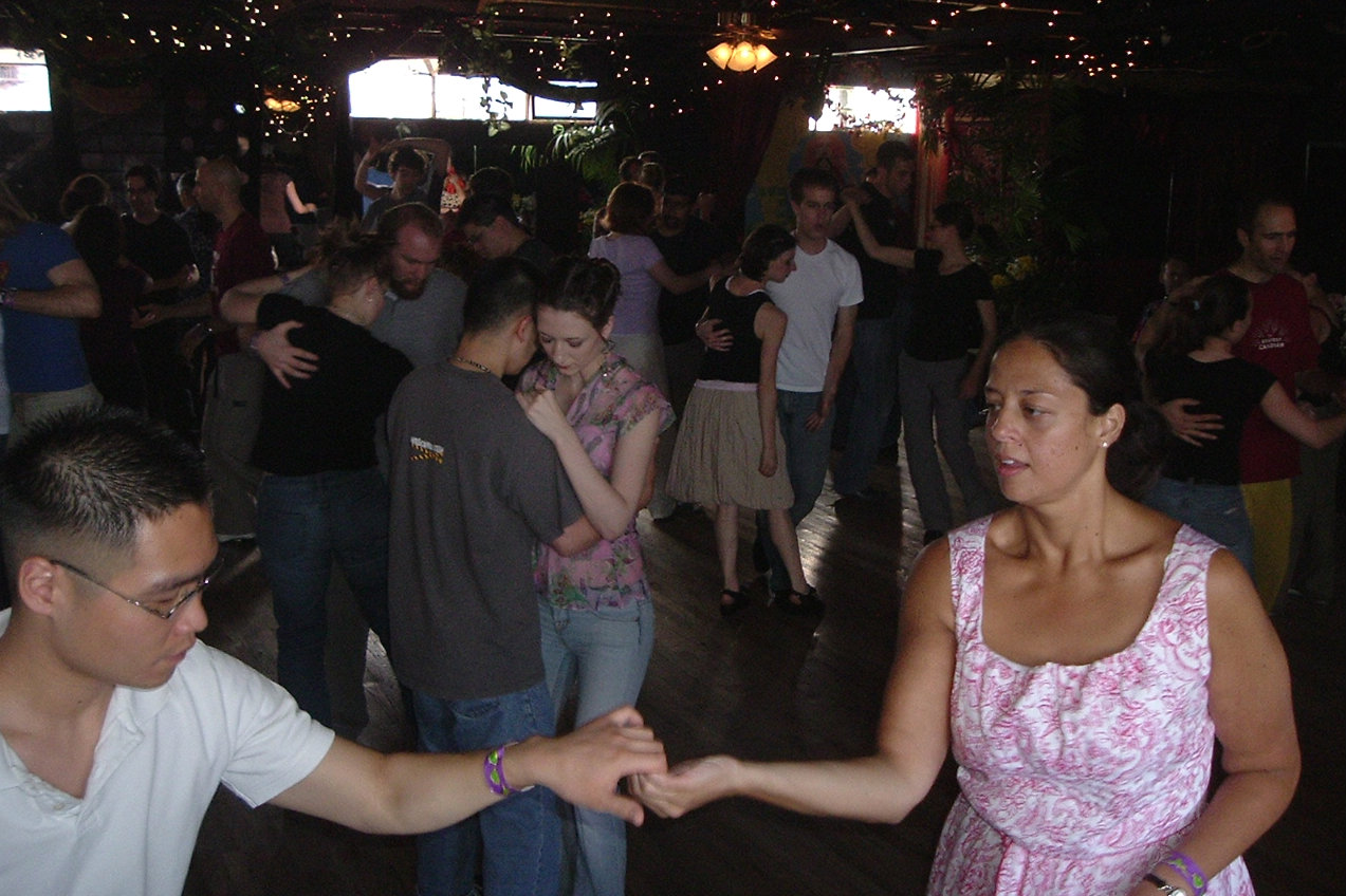 <p>Swing dancers take to the floor at Denver's Mercury Cafe.</p>