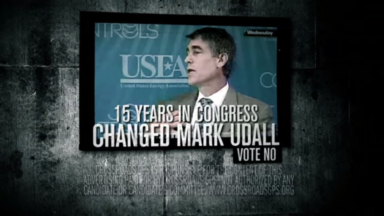 Photo: Udall Crossroads GPS advertisement