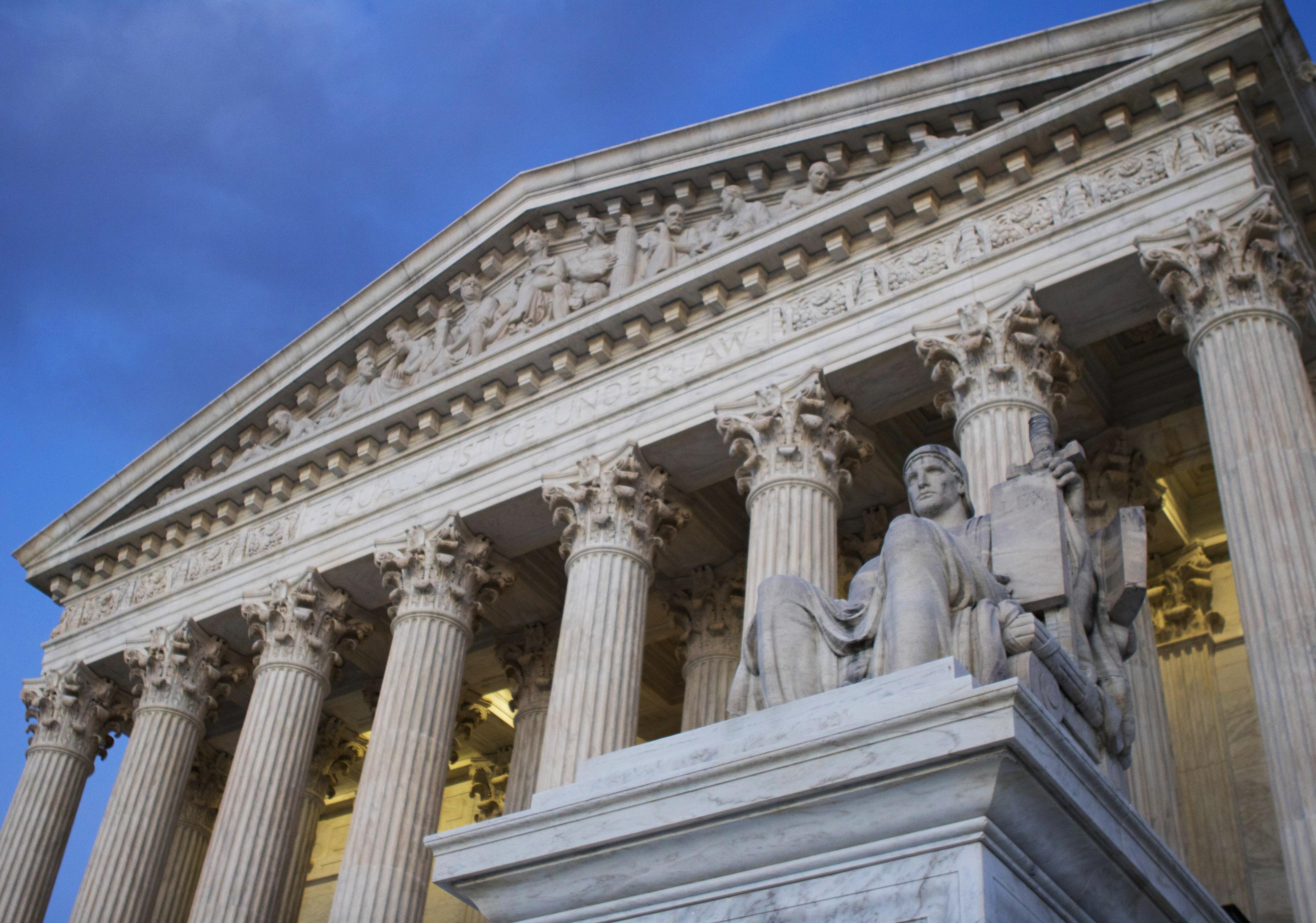 <p>The U.S. Supreme Court building</p>