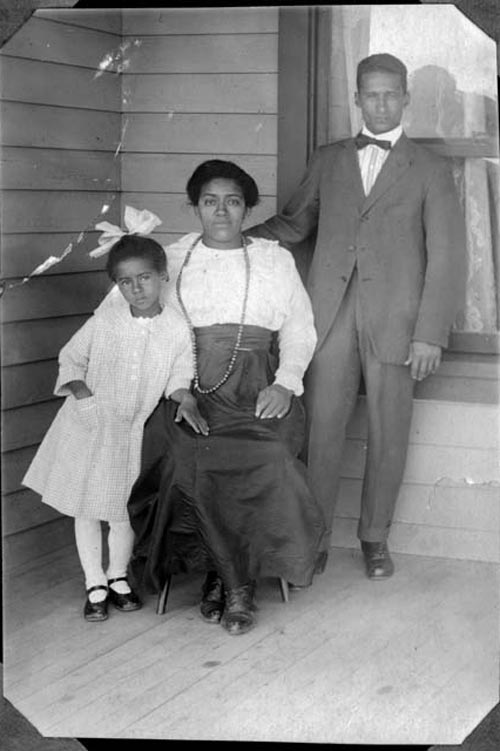 Photo: Marie Greenwood 2 | Marie Age 8 w/ Parents - Courtesy