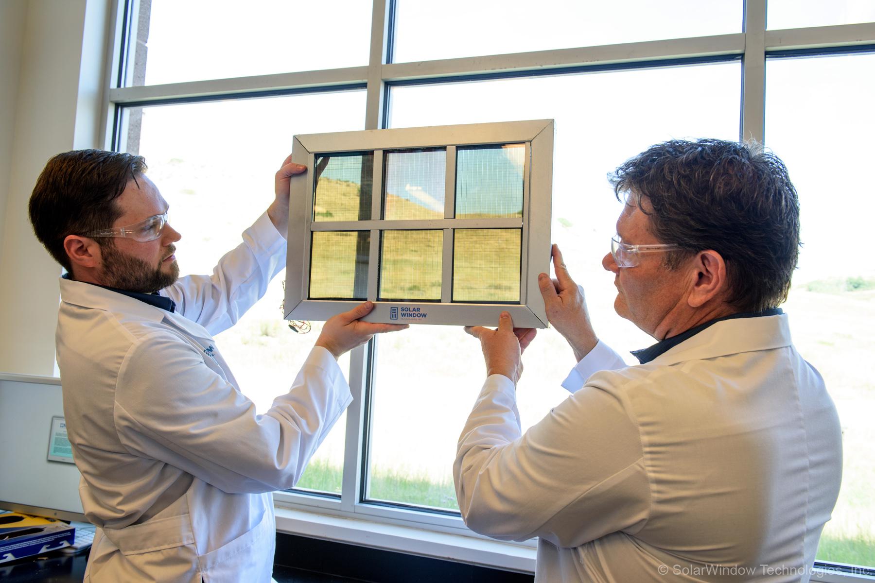 Photo:holding solar window up