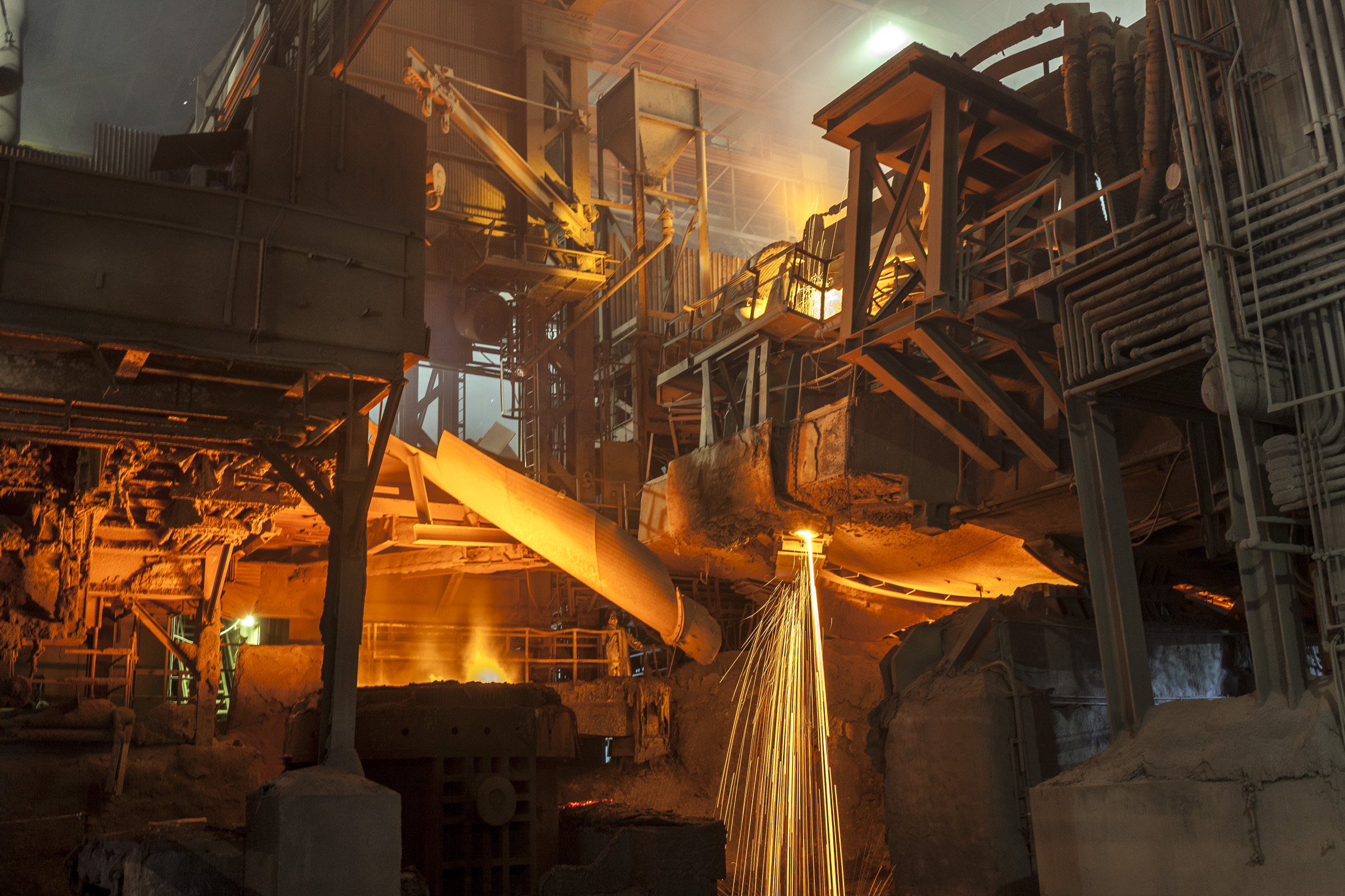 Steelmaking today inside the Evraz Rocky Mountain Steel mill in Pueblo.
