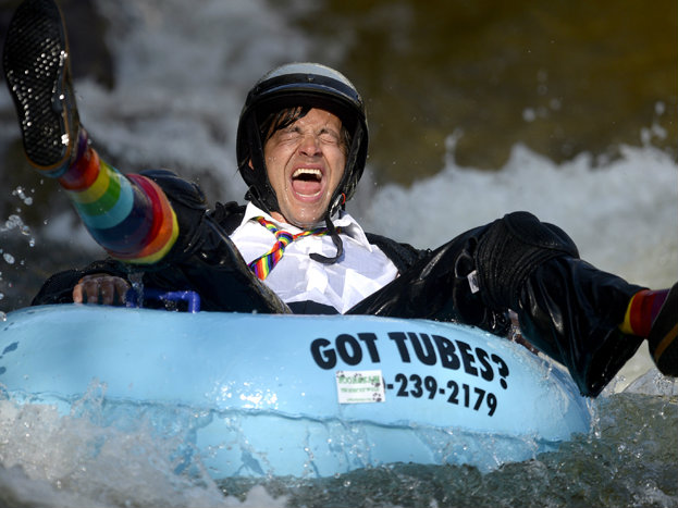 Photo: Tubing to work in Boulder