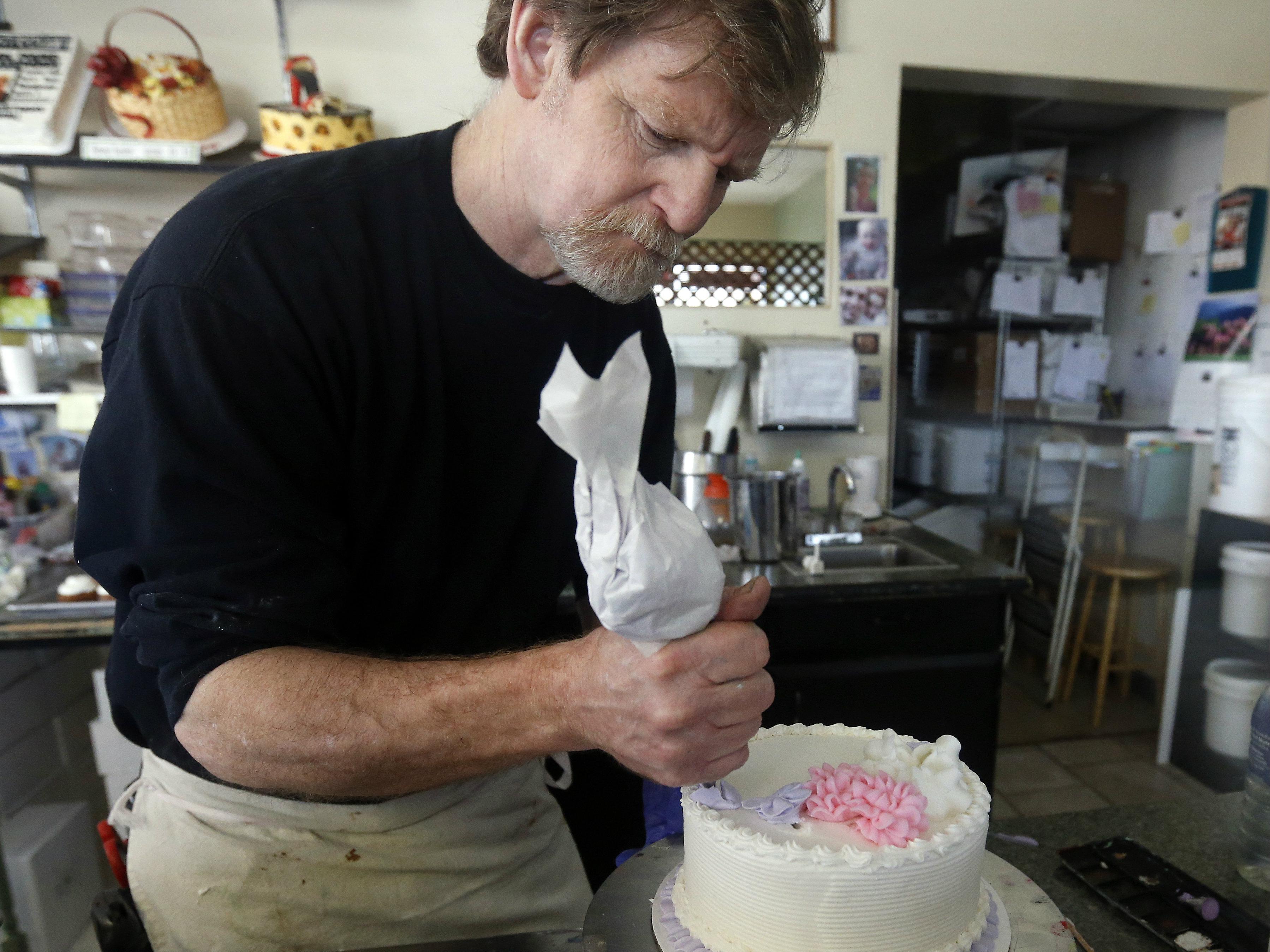 Photo: Lakewood baker Jack Phillips (AP Photo)