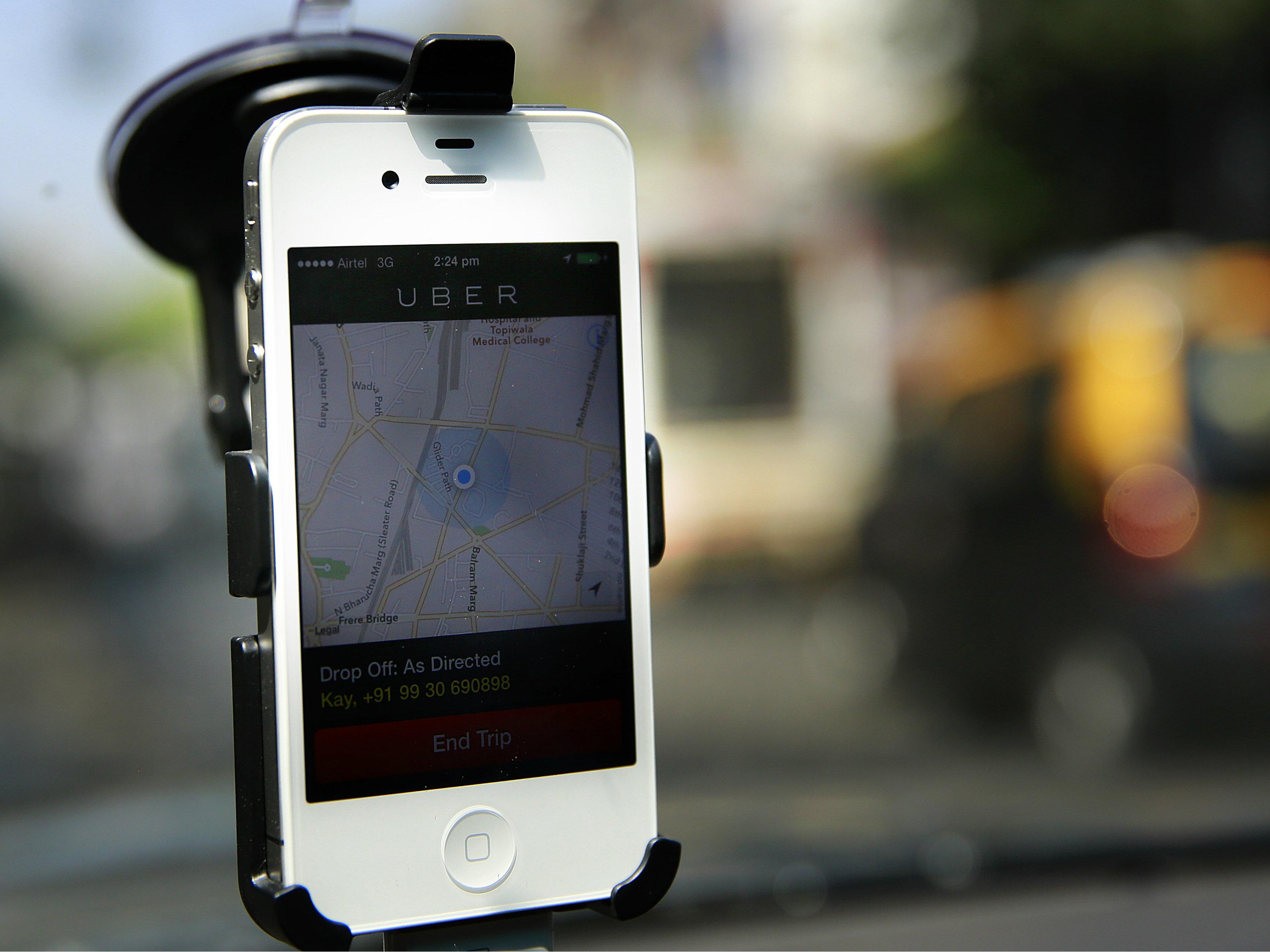 Photo: Uber app