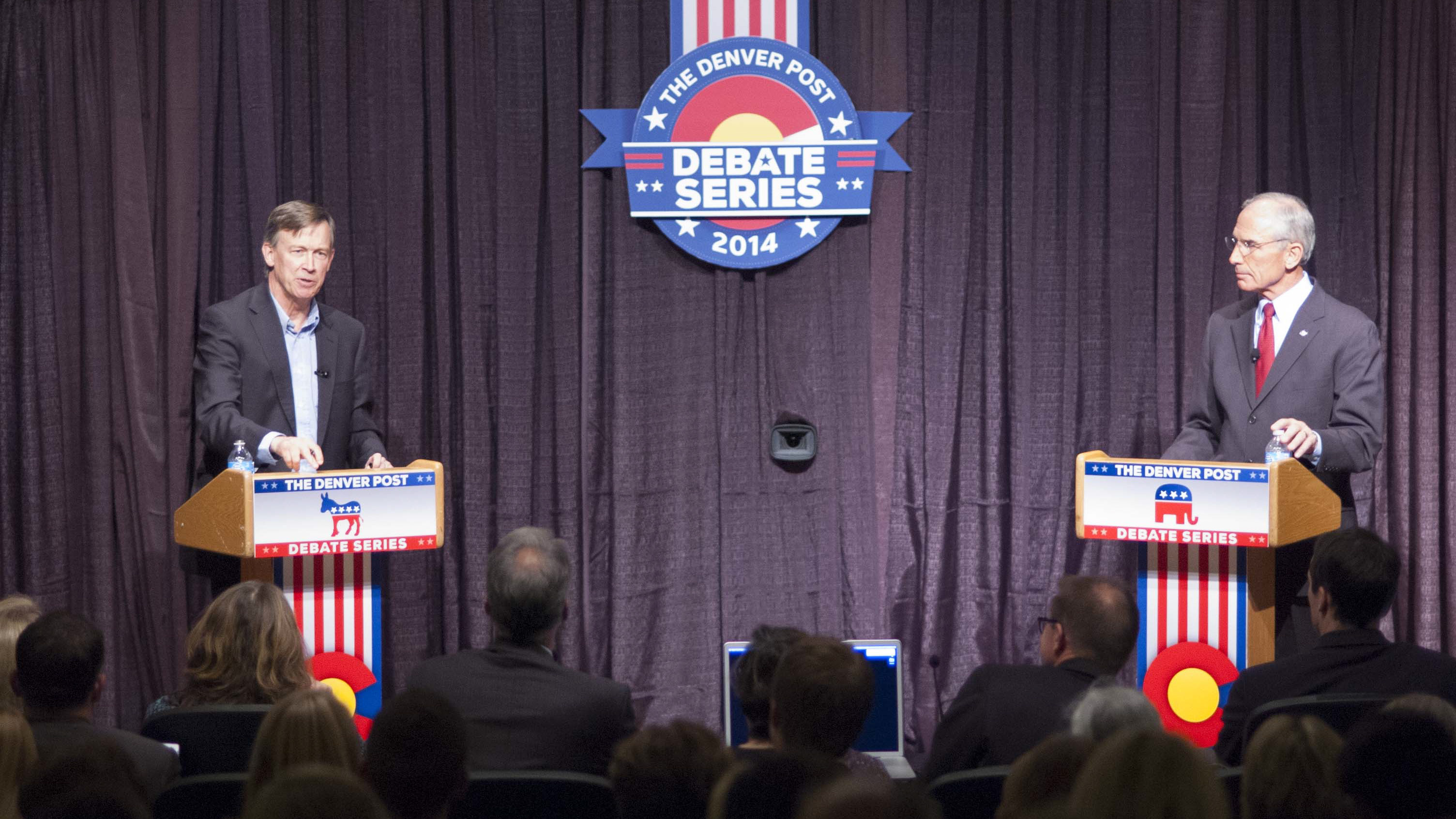 Photo: Hickenlooper, Beauprez debate