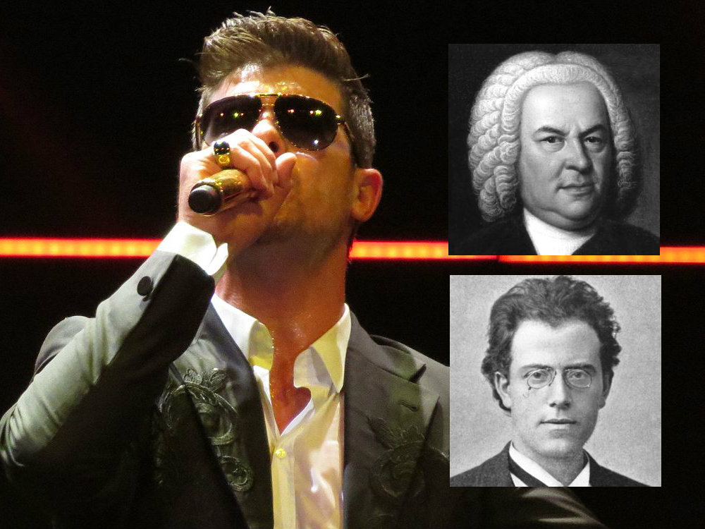 Photo: Robin Thicke (plus Bach and Mahler)