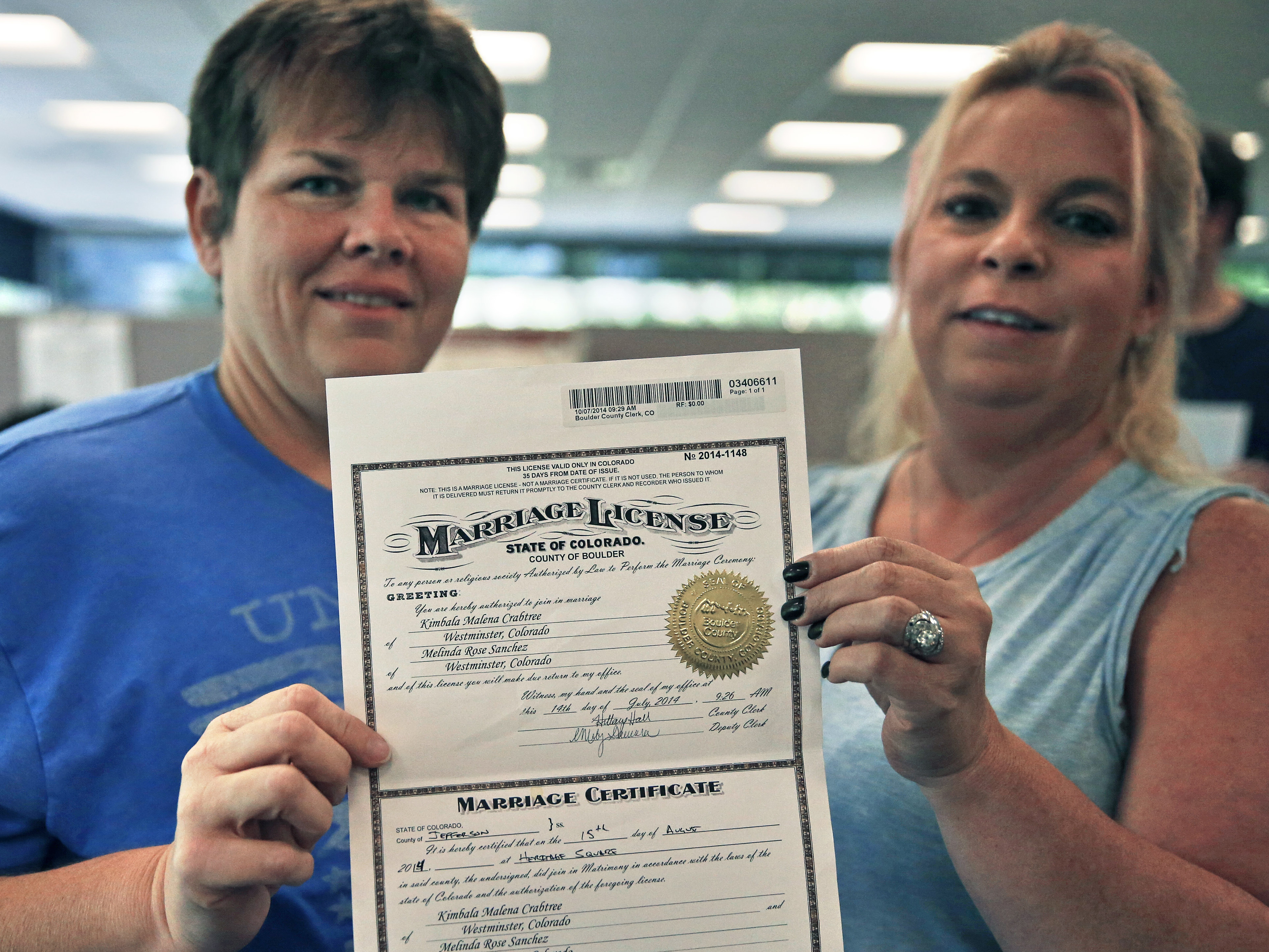 Photo: Marriage license in Boulder 2