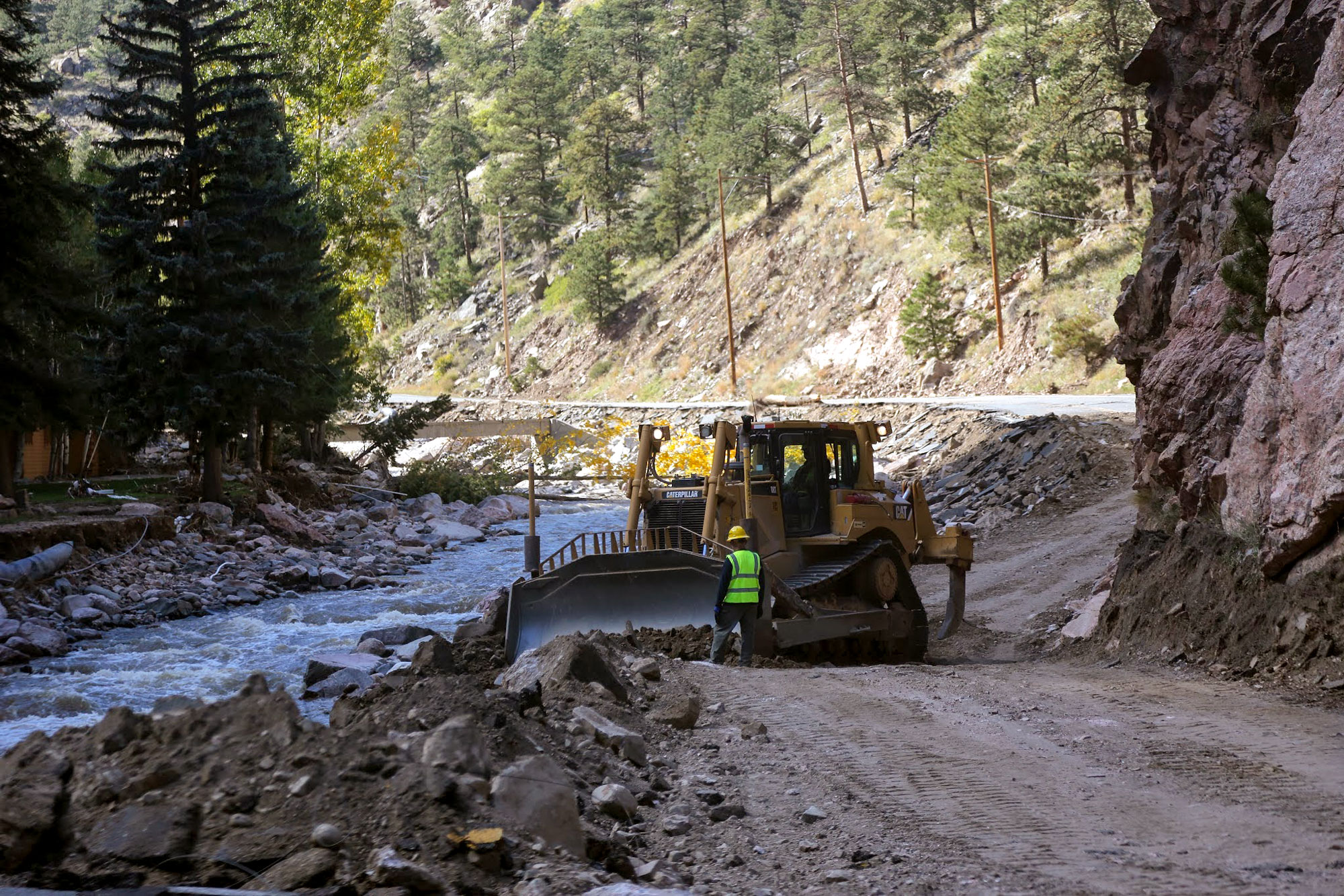 Photo: Colorado Flood 2013 | US 34 Repair Big Thompson - Courtesy