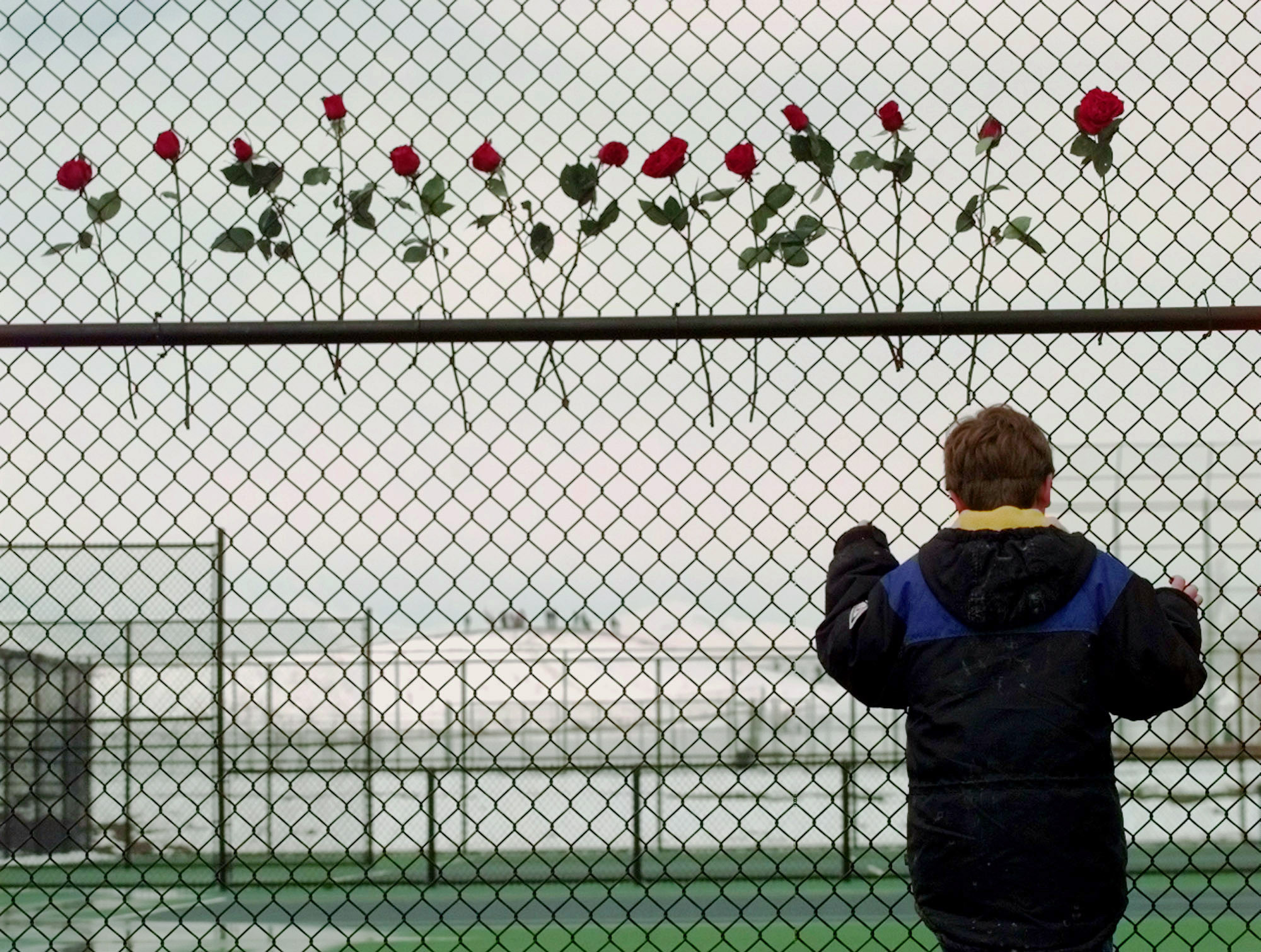 Photo: Columbine High School roses (AP Photo)