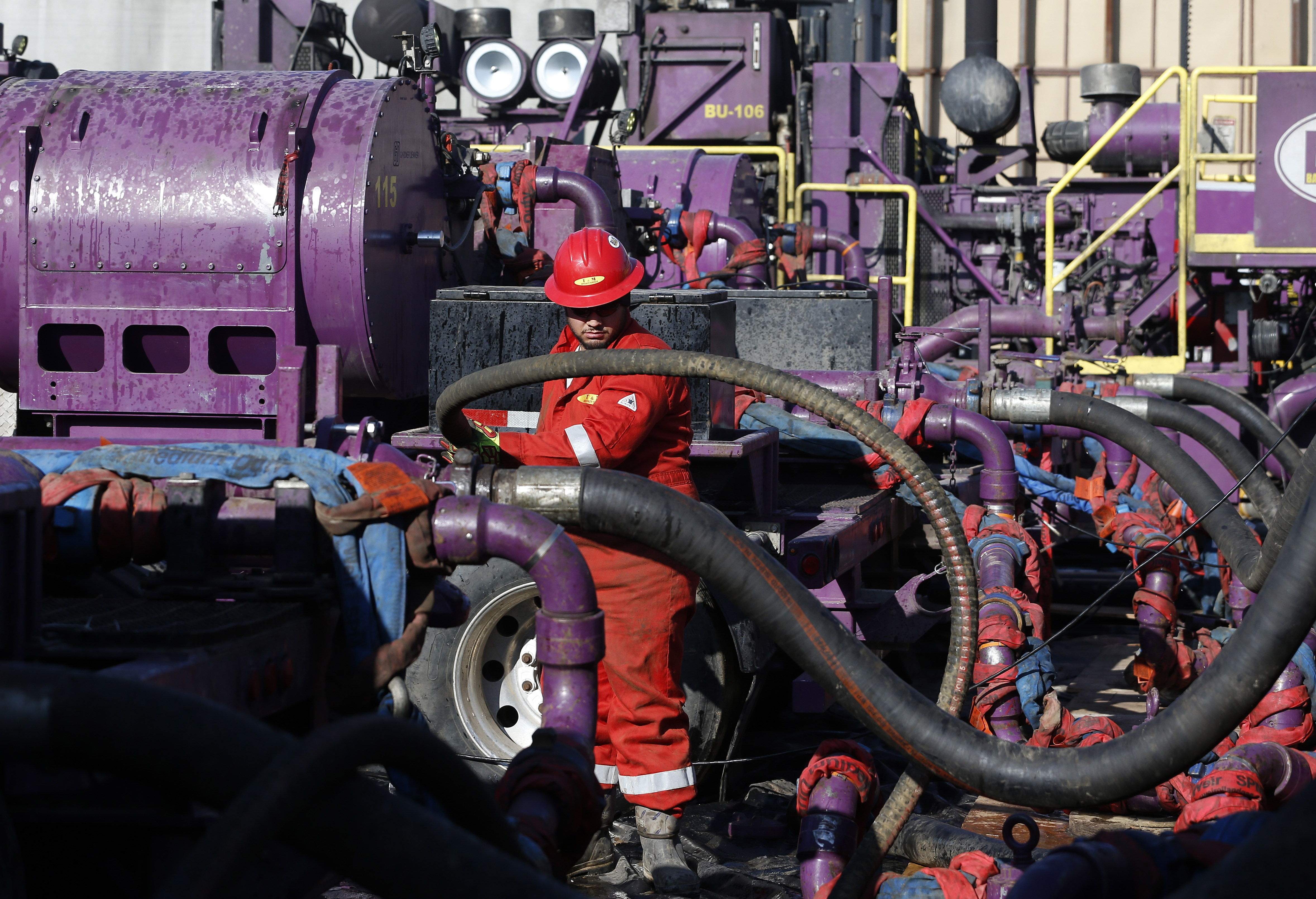 Photo: Fracking operation in Weld County (AP Photo)