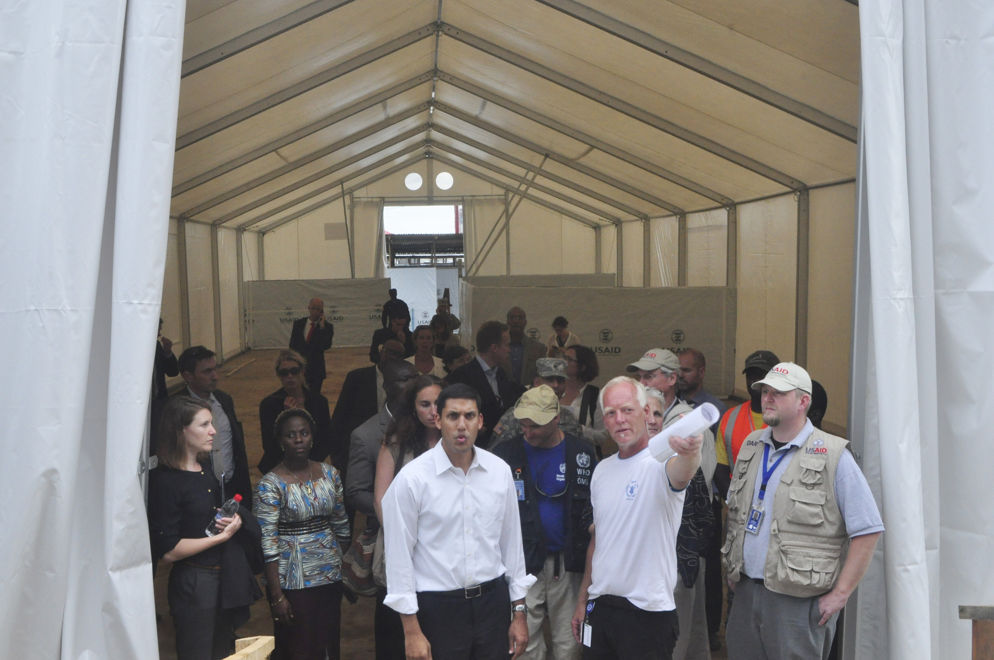 Photo: Ebola treatment center (AP Photo)