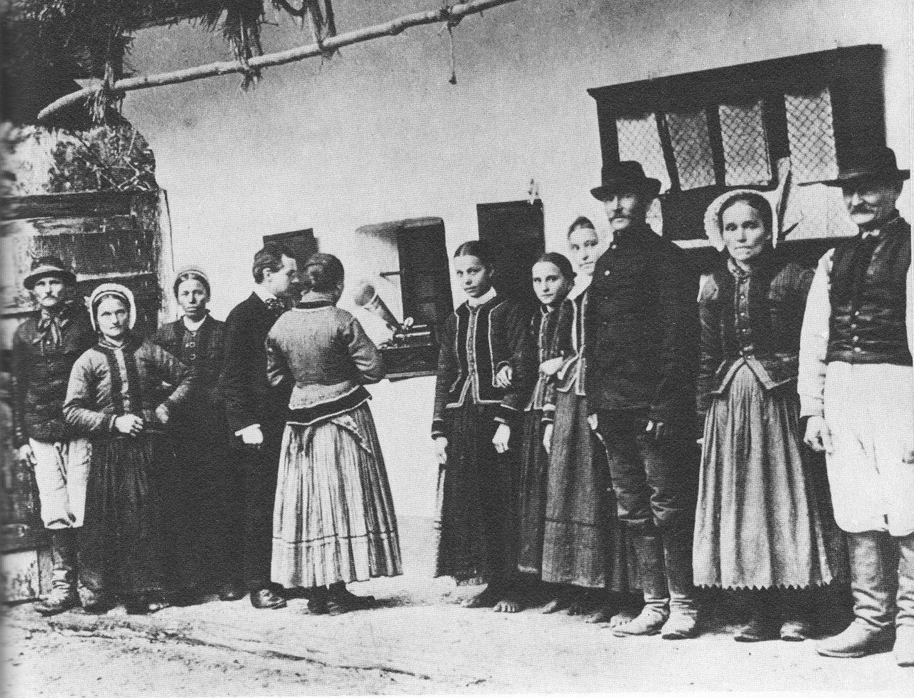 Photo: Bela Bartok collecting field recordings