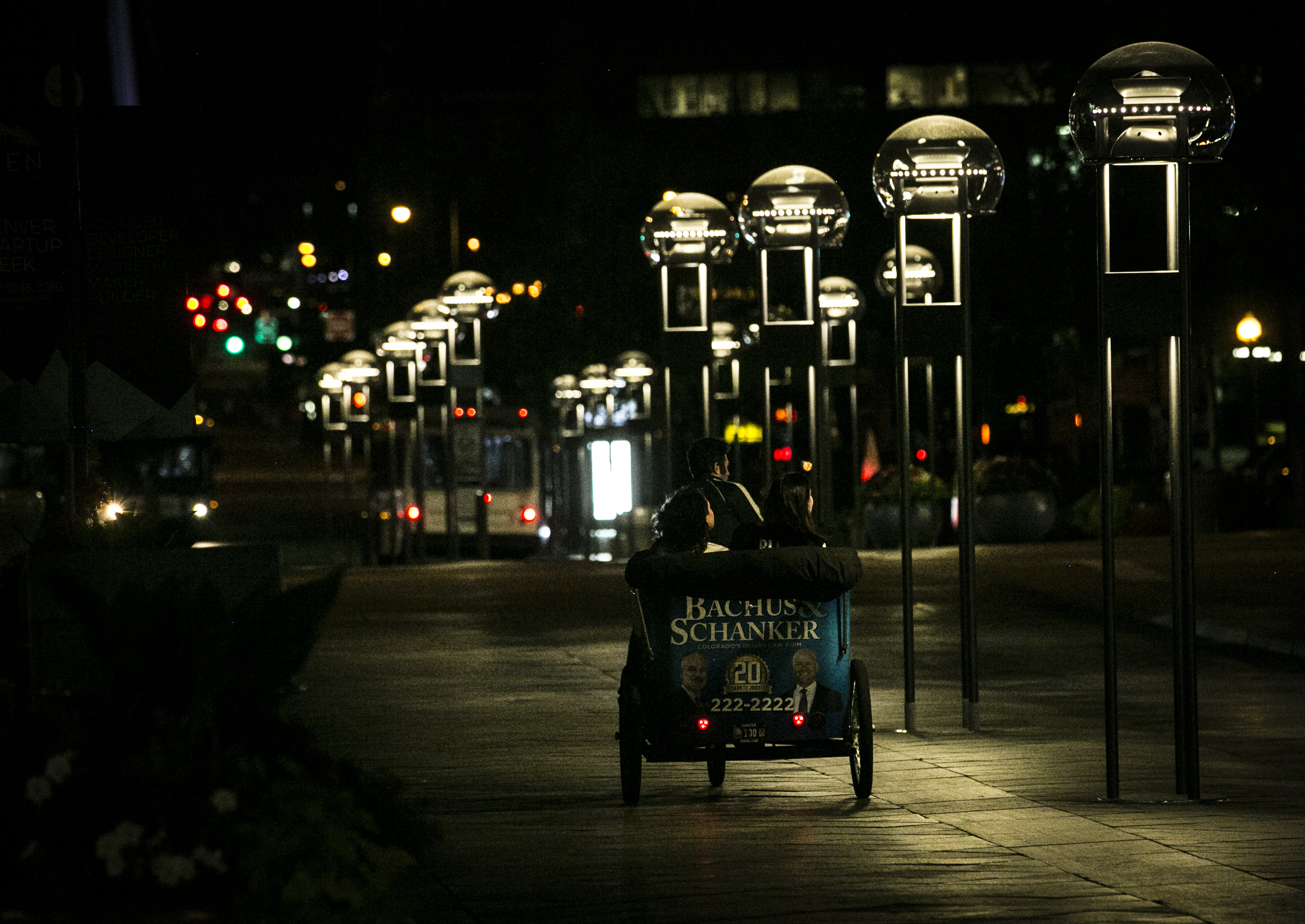 Photo: 16th Street Mall LED Lights 2 | Pedicab
