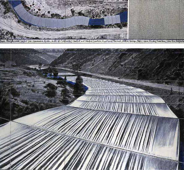 'Over The River' Drawings By Christo