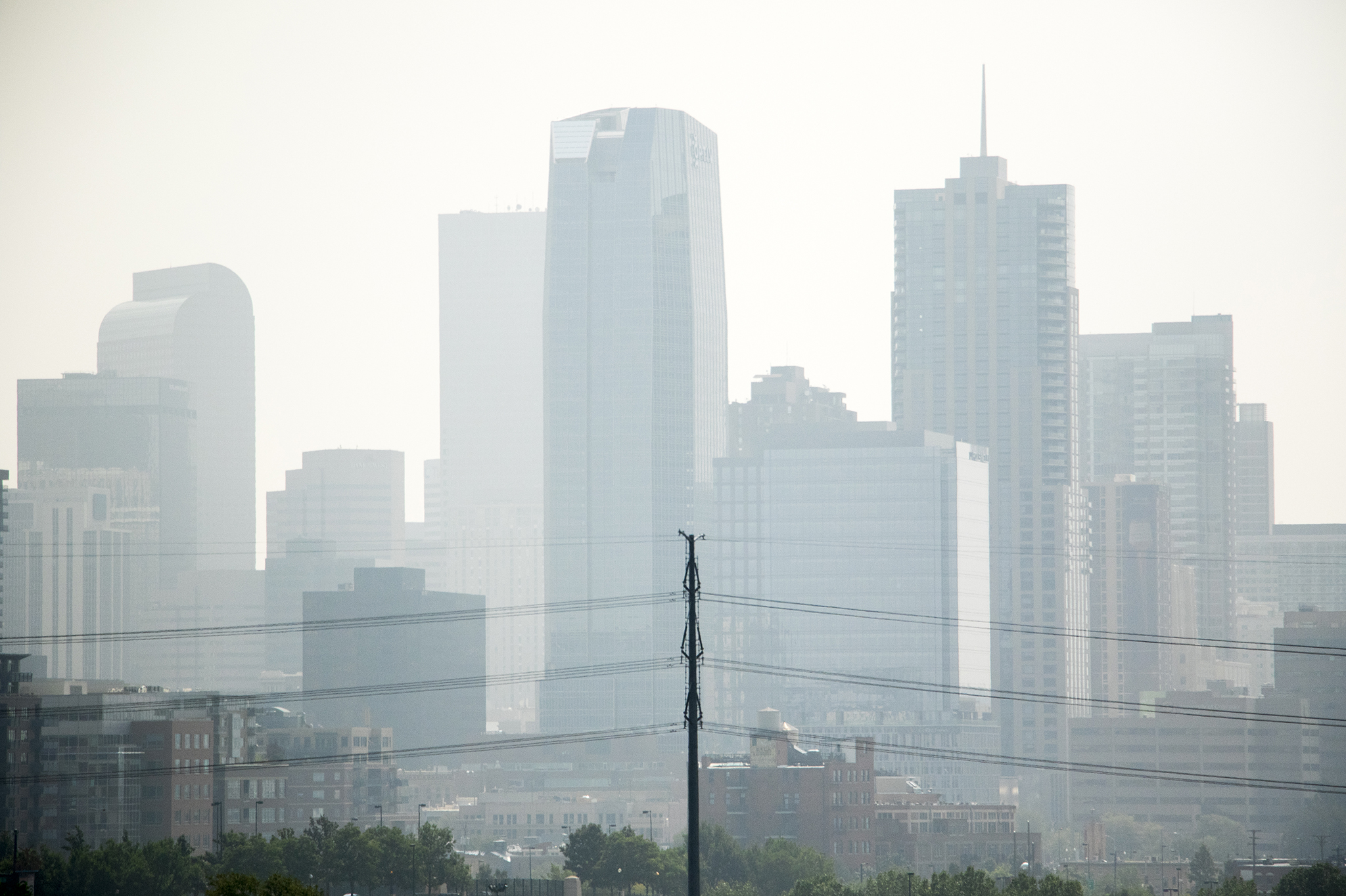 Denver's air quality is visibly not great on Aug. 20, 2018.