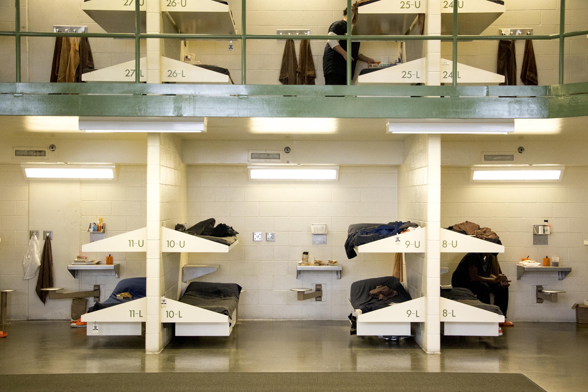 Inside Denver's downtown detention center,Oct. 11, 2018.