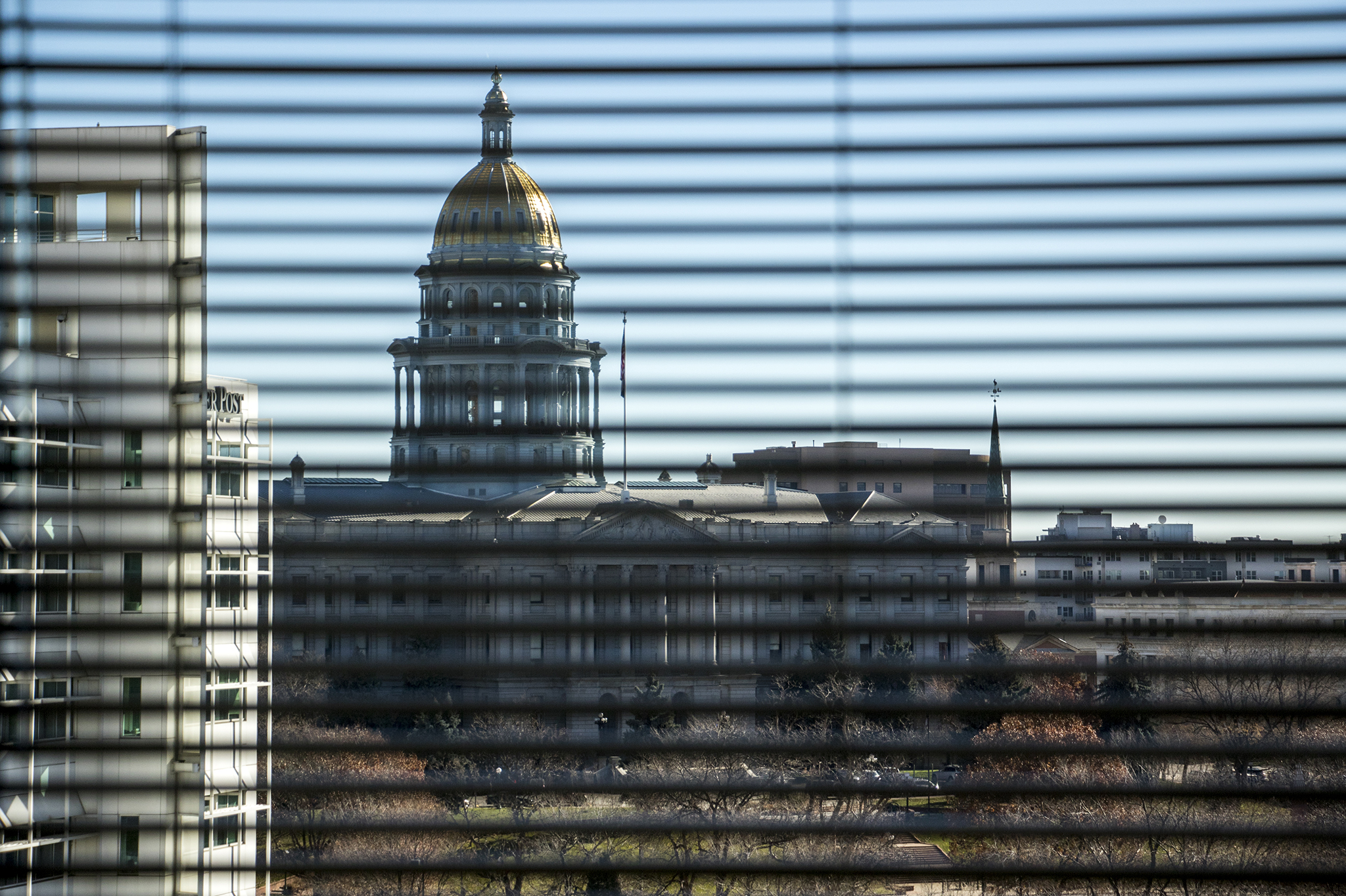 Photo: Colorado Capitol | West Face Through Blinds - KBeaty
