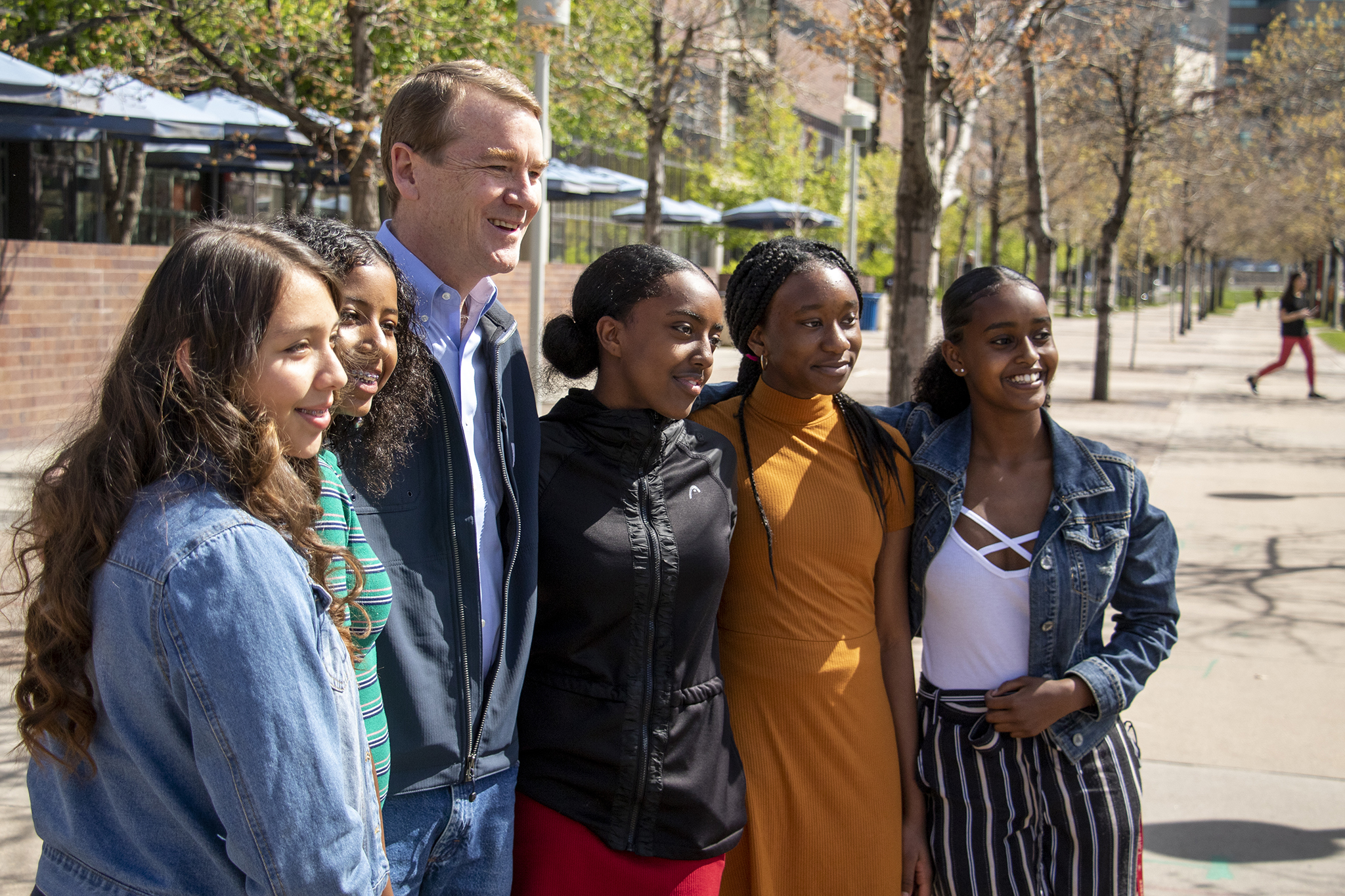 Photo: Michael Bennet Interview with Colorado Matters Auraria -Beaty