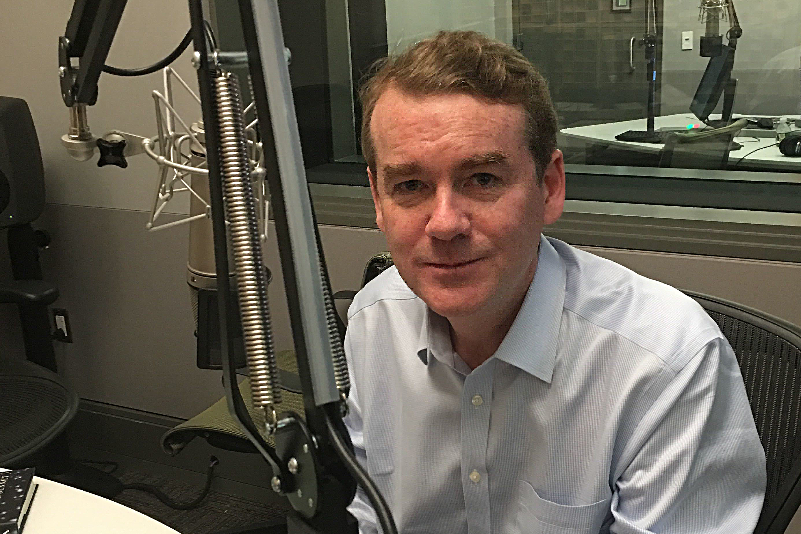 Photo: Bennet On Colorado Matters At NPR