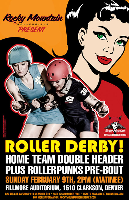 photo: Rocky Mountain Rollergirls: 10 Years Rolling Strong flyer
