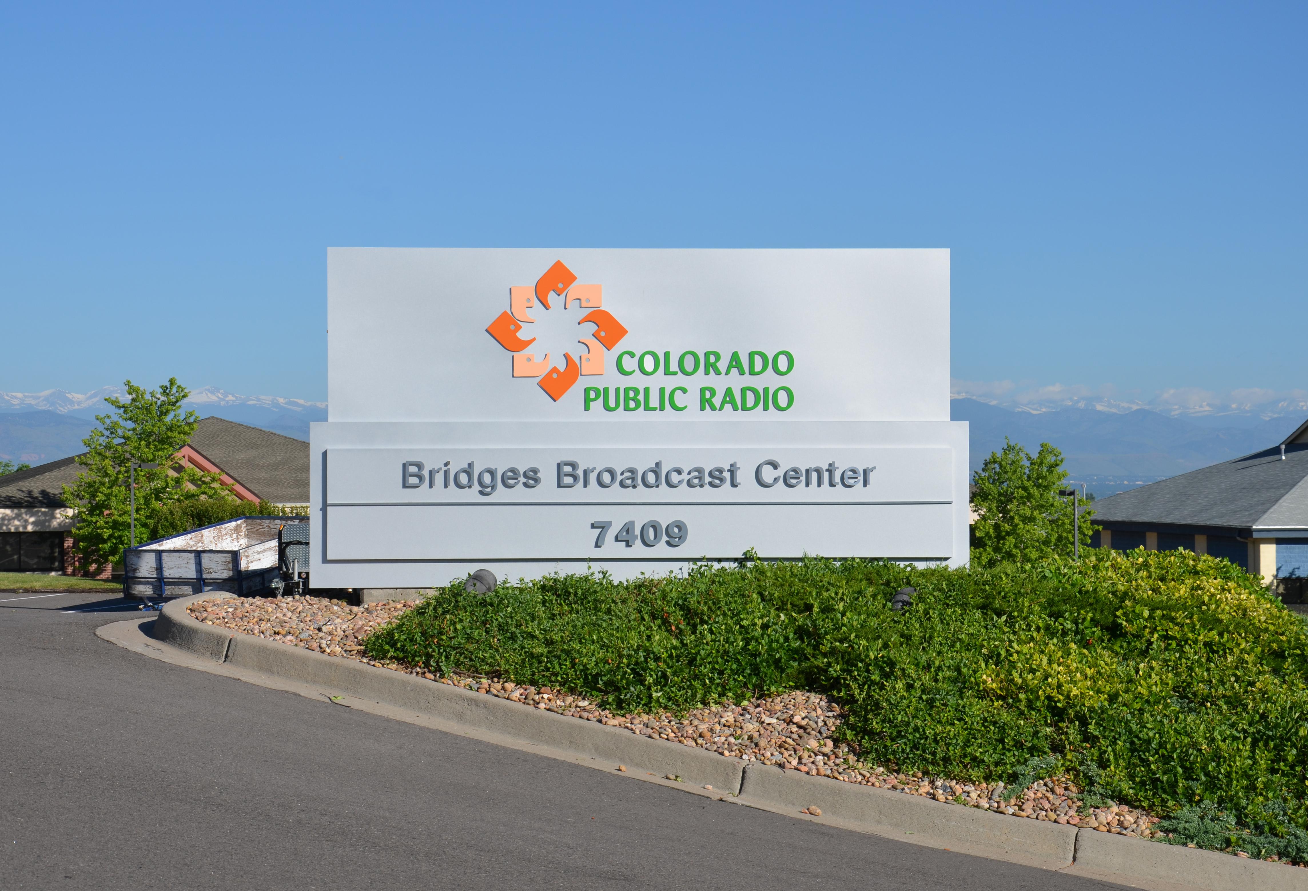 Bridges Broadcast Center Sign
