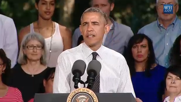 Photo: Obama speaks at Cheesman Park