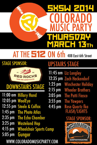 photo: CO Music Party lineup Thurs