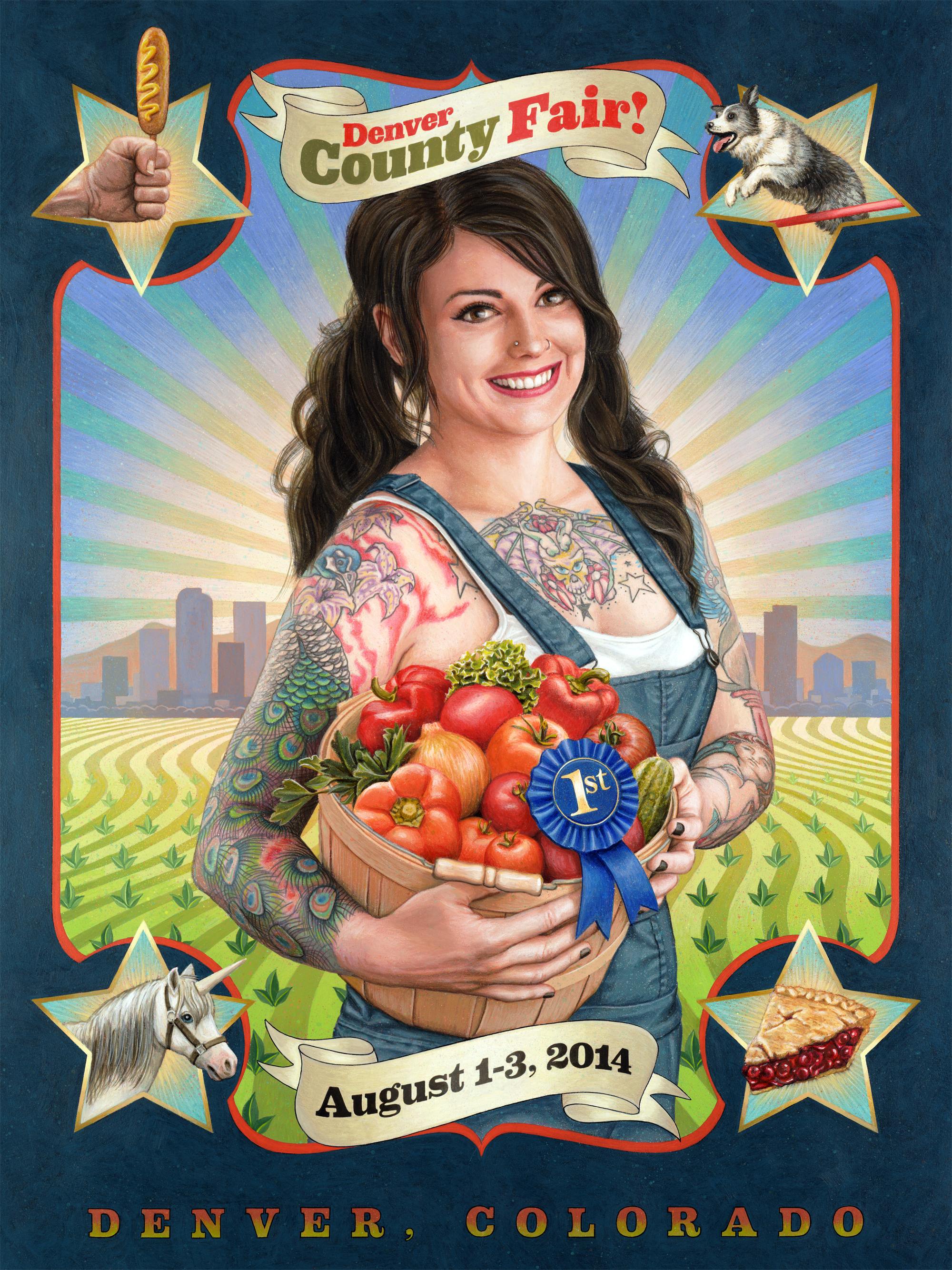 photo: Denver County Fair poster full