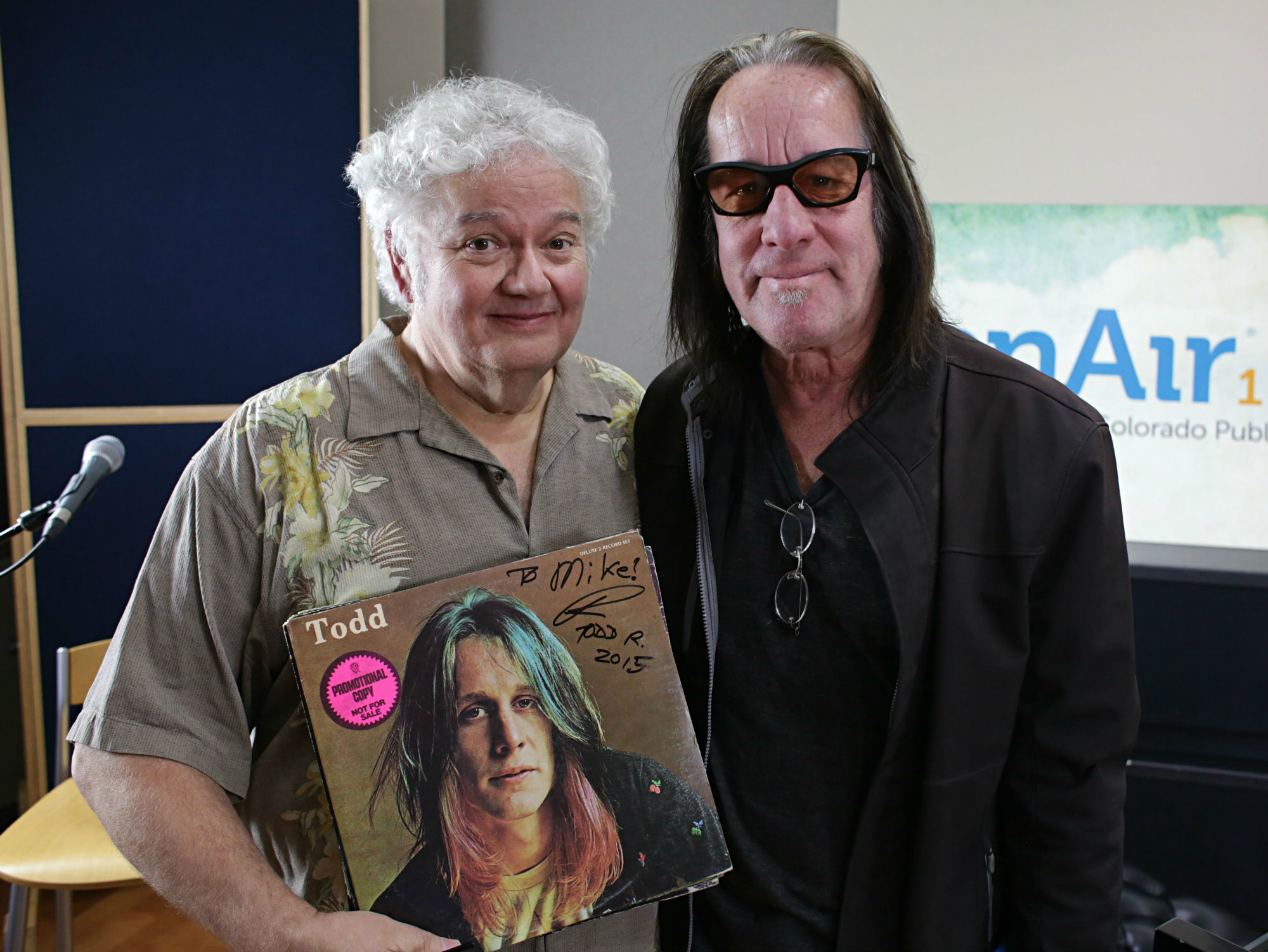 Photo: Mike Flanagan and Todd Rundgren