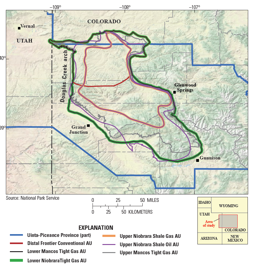 Map: USGC Report Piceance Basin