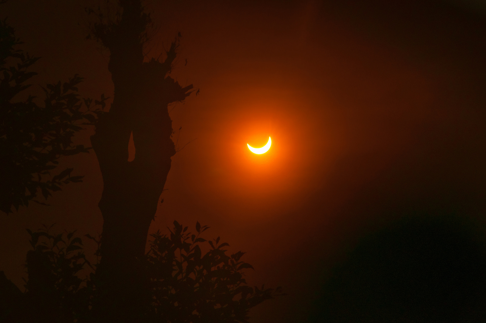 Partial Solar Eclipse In Indonesia