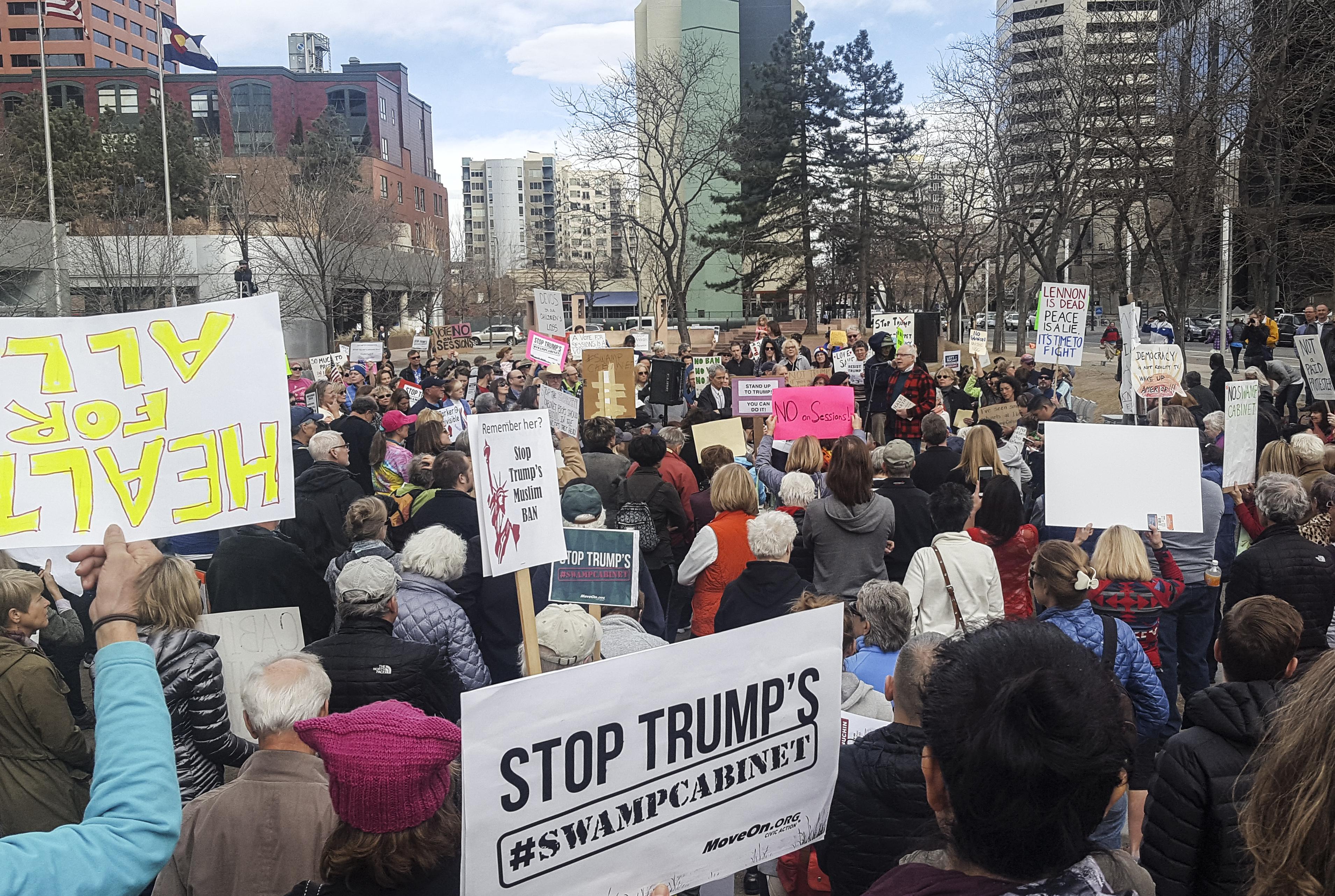 Photo: Protest At Sen. Gardner's Office