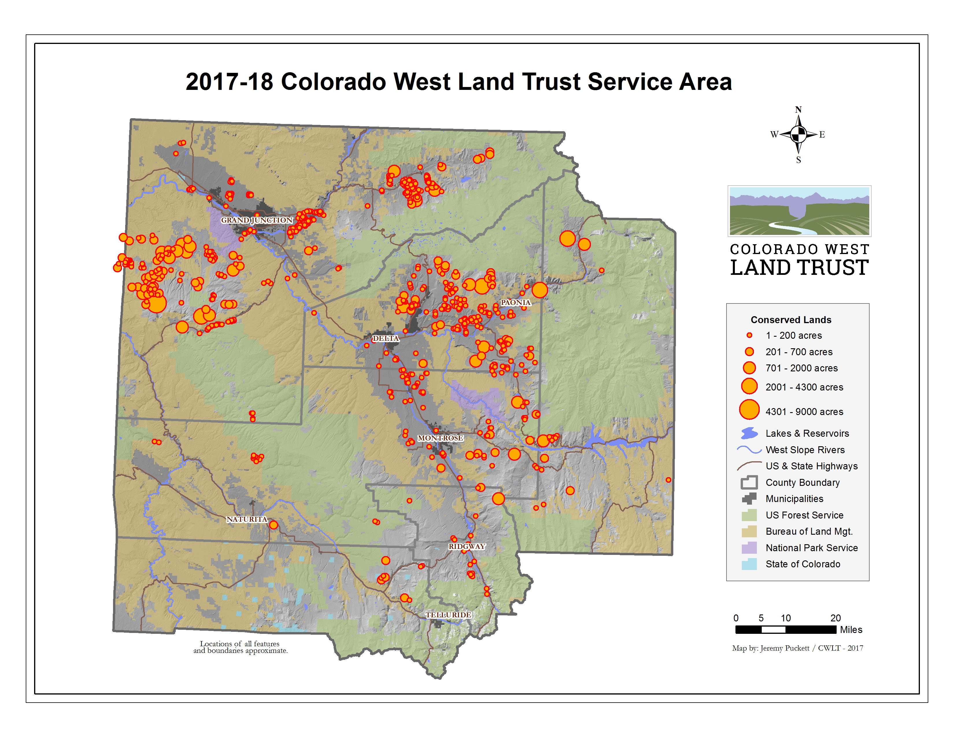 Western Slope Colorado Map Western Slope Land Preservation Gains Some New Muscle In The Face