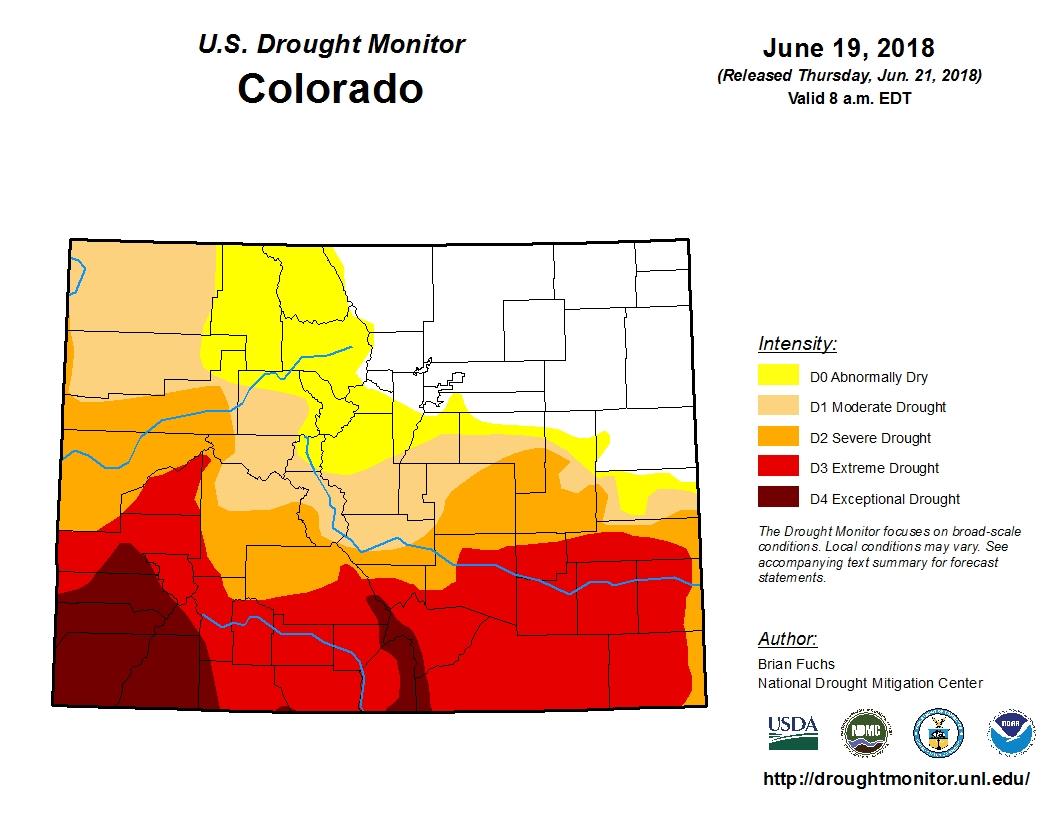 Photo: Colorado Drought Map