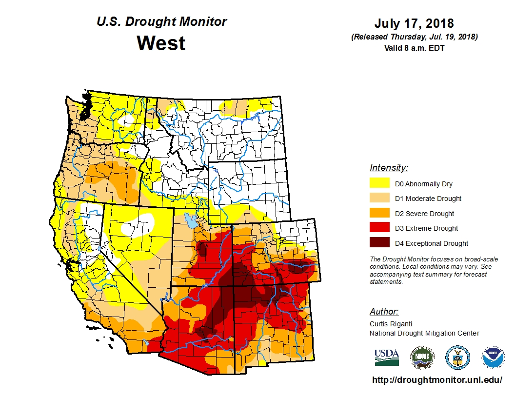 Photo: Horse Drought 1 | West Drought Map - USDA